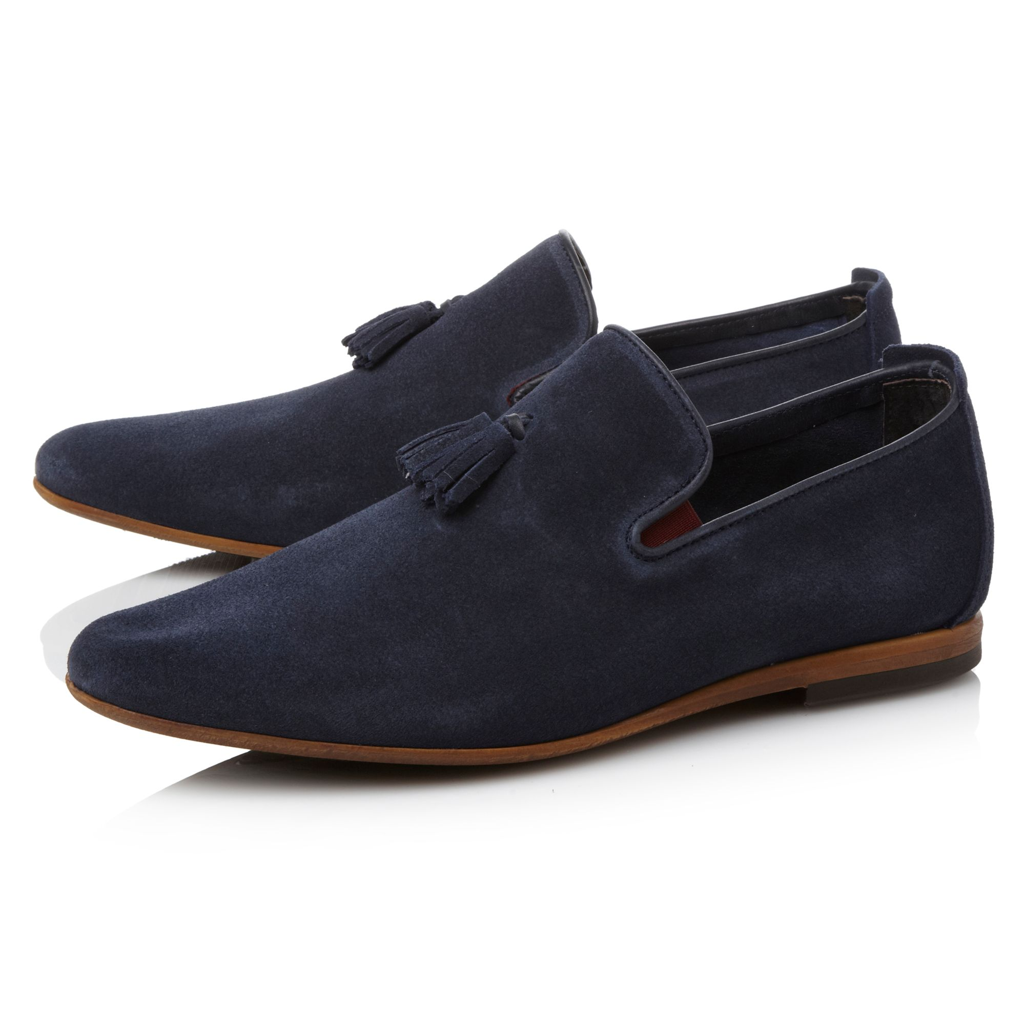 Beemer suede tassel slip on shoe