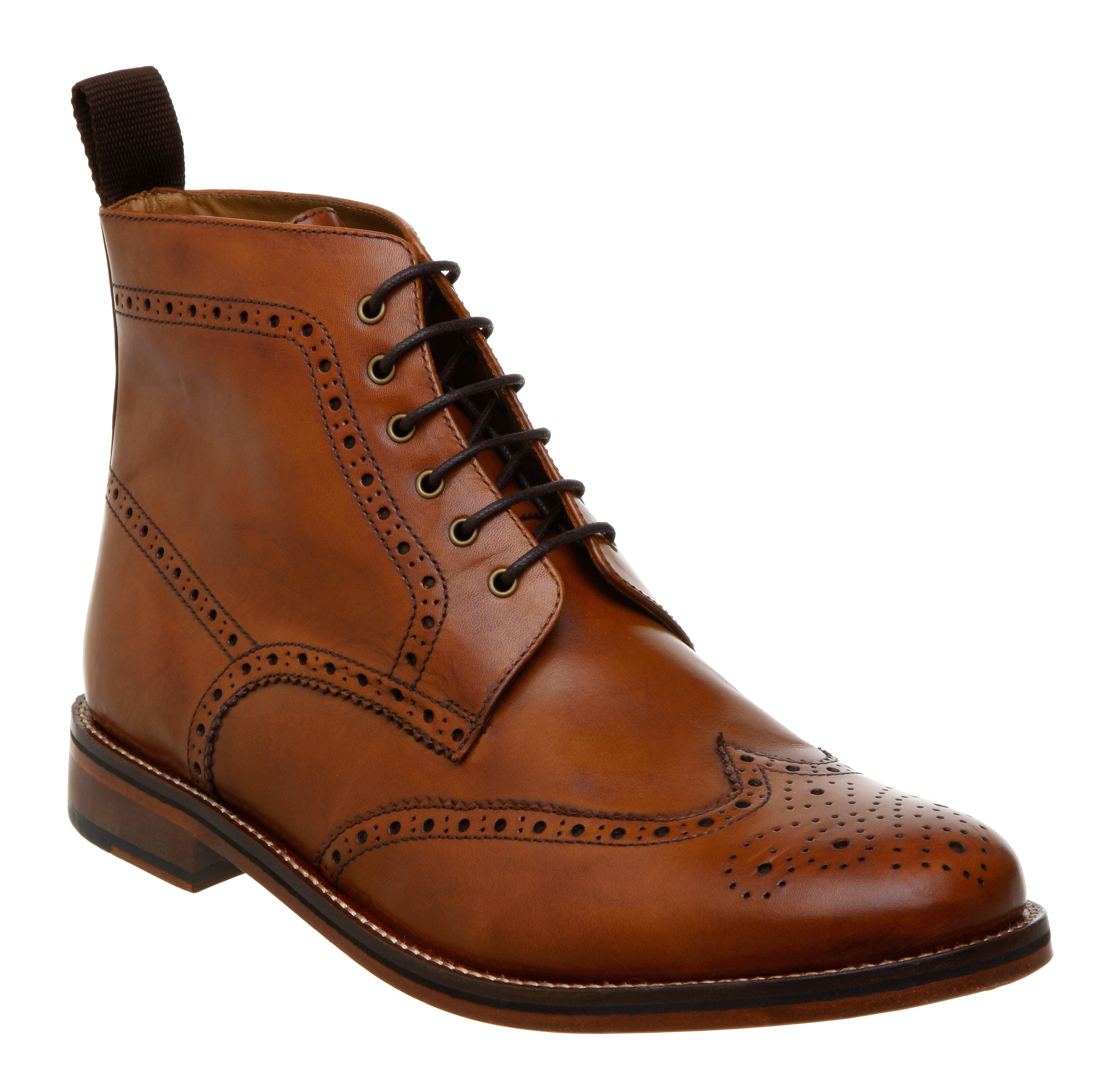 Calibrate brogue boots