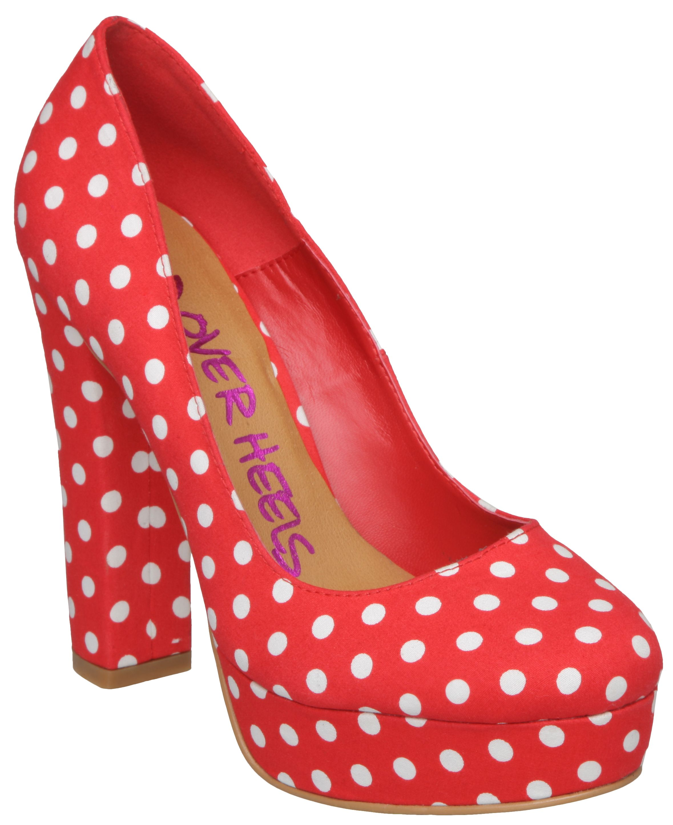 Bella h polka dot platform court shoes