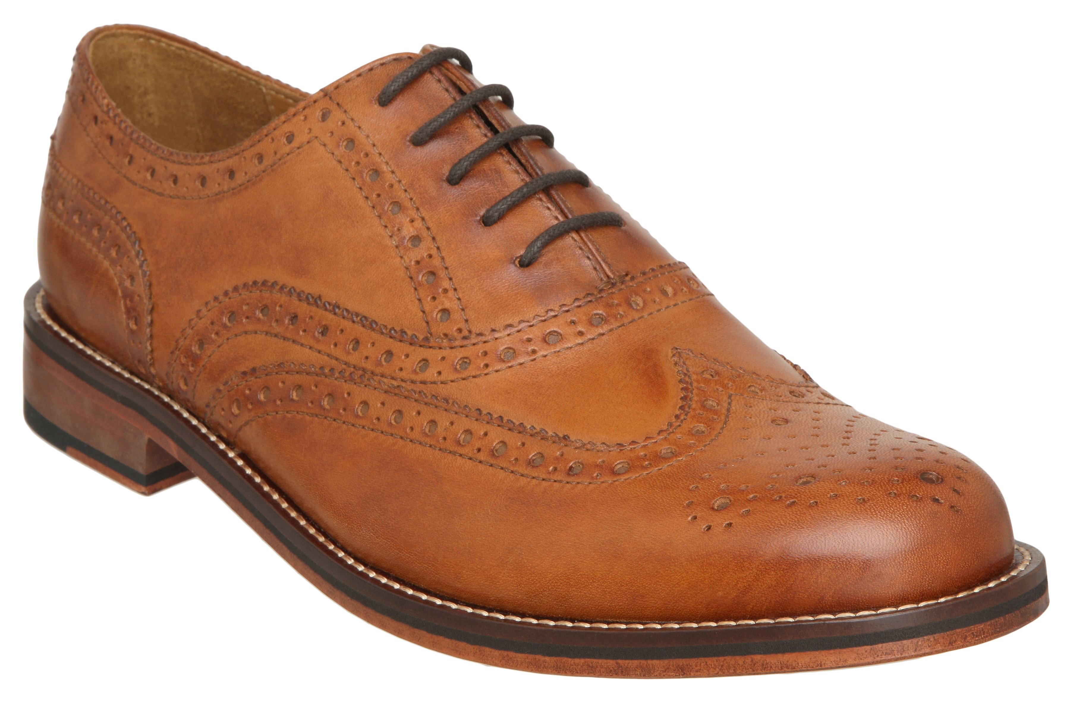Axton formal leather brogues
