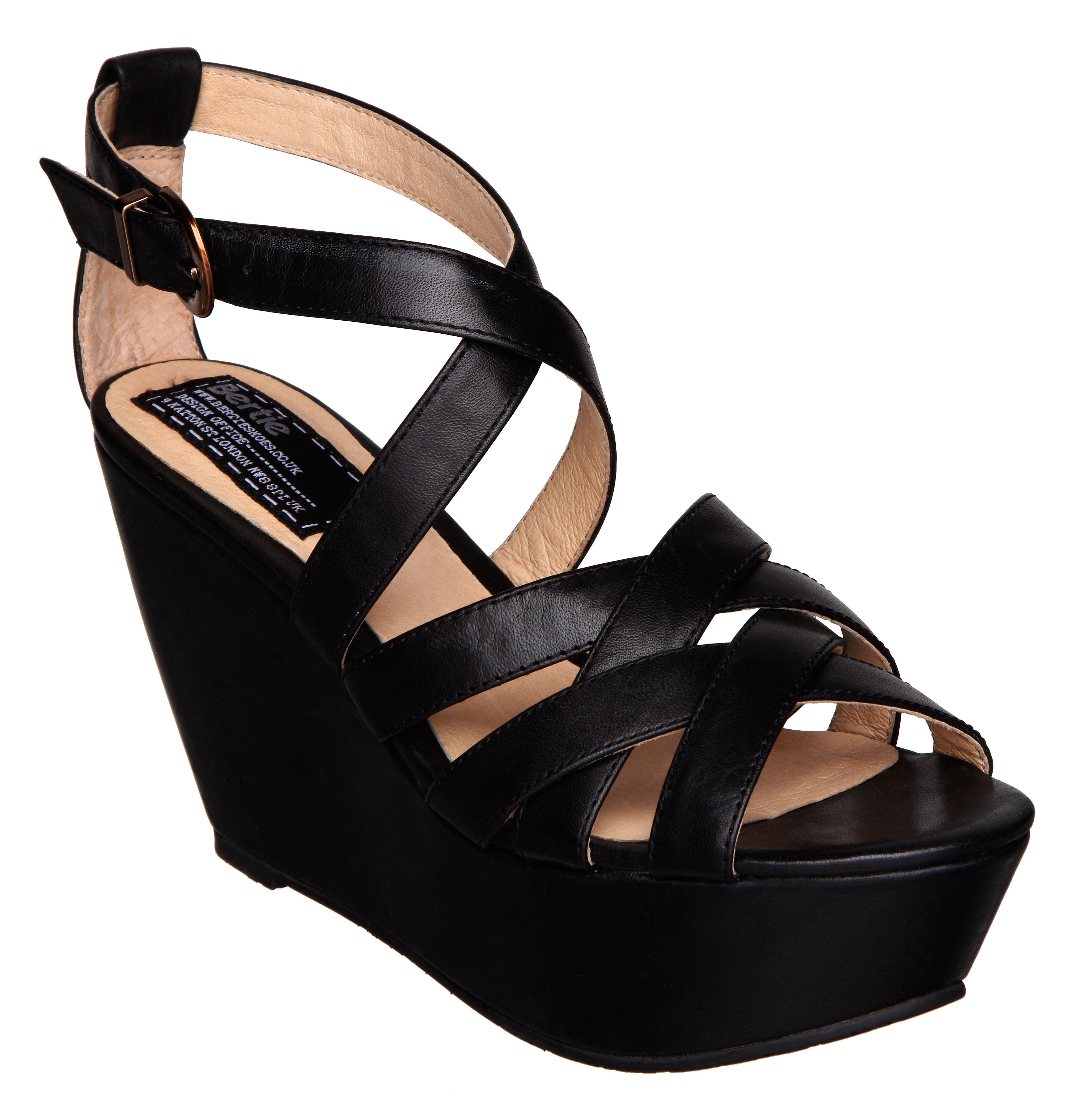 Ghianna multi strap geisha wedge sandals