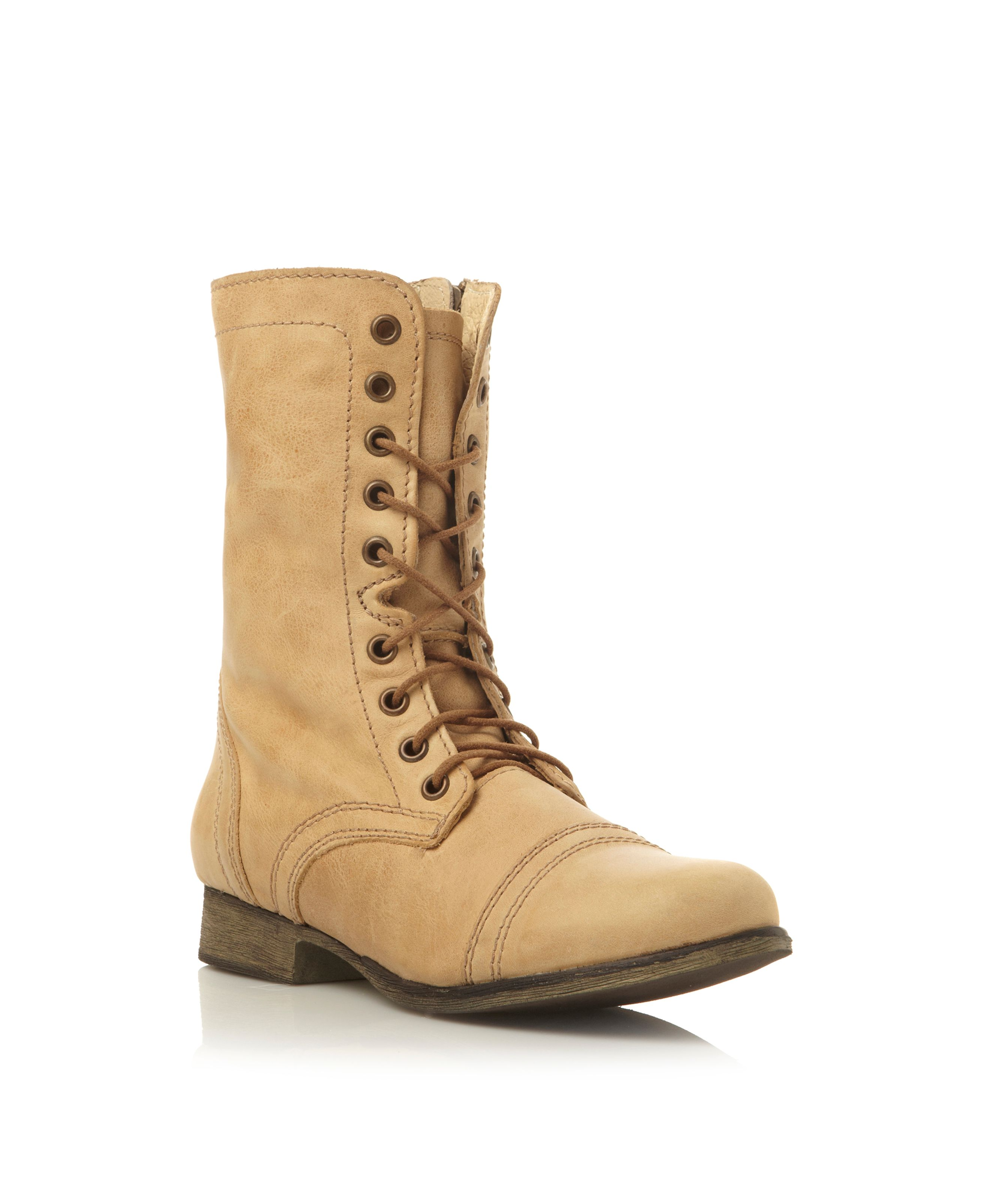 Troopa SM lace up calf boots