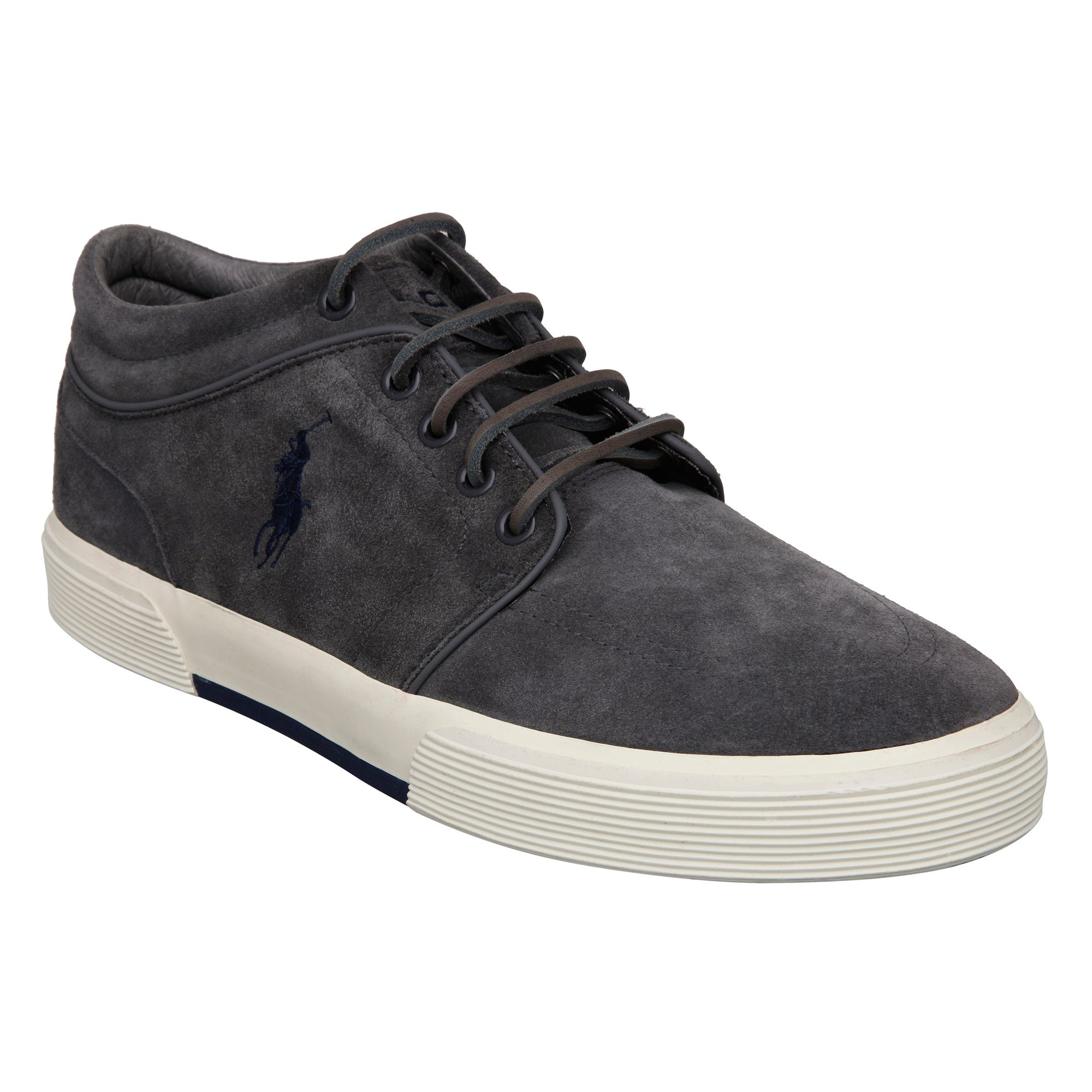 Polo Ralph Lauren Faxon Mid Ii Trainers, Grey