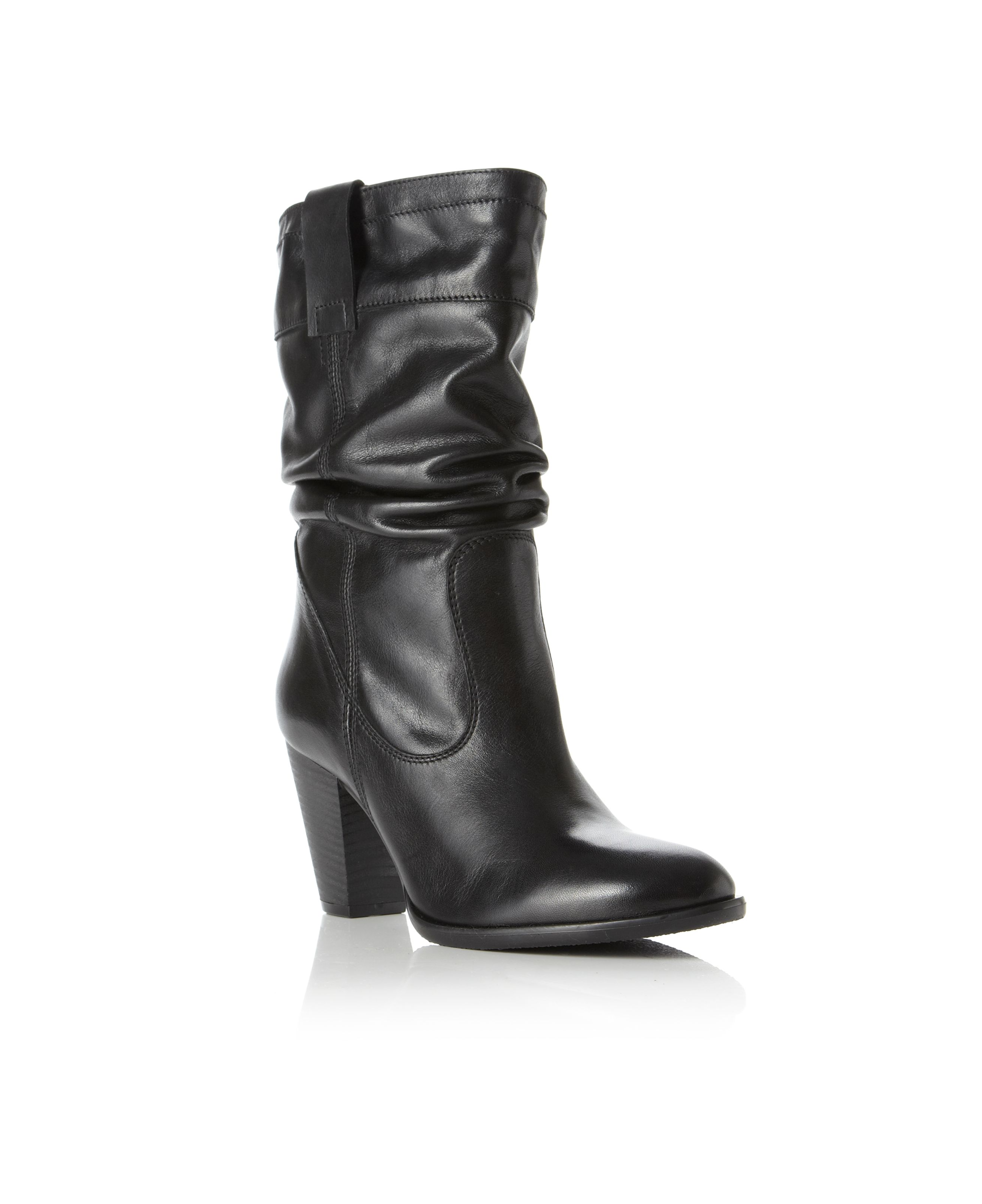 Reigate Plain Rouched Calf Boots