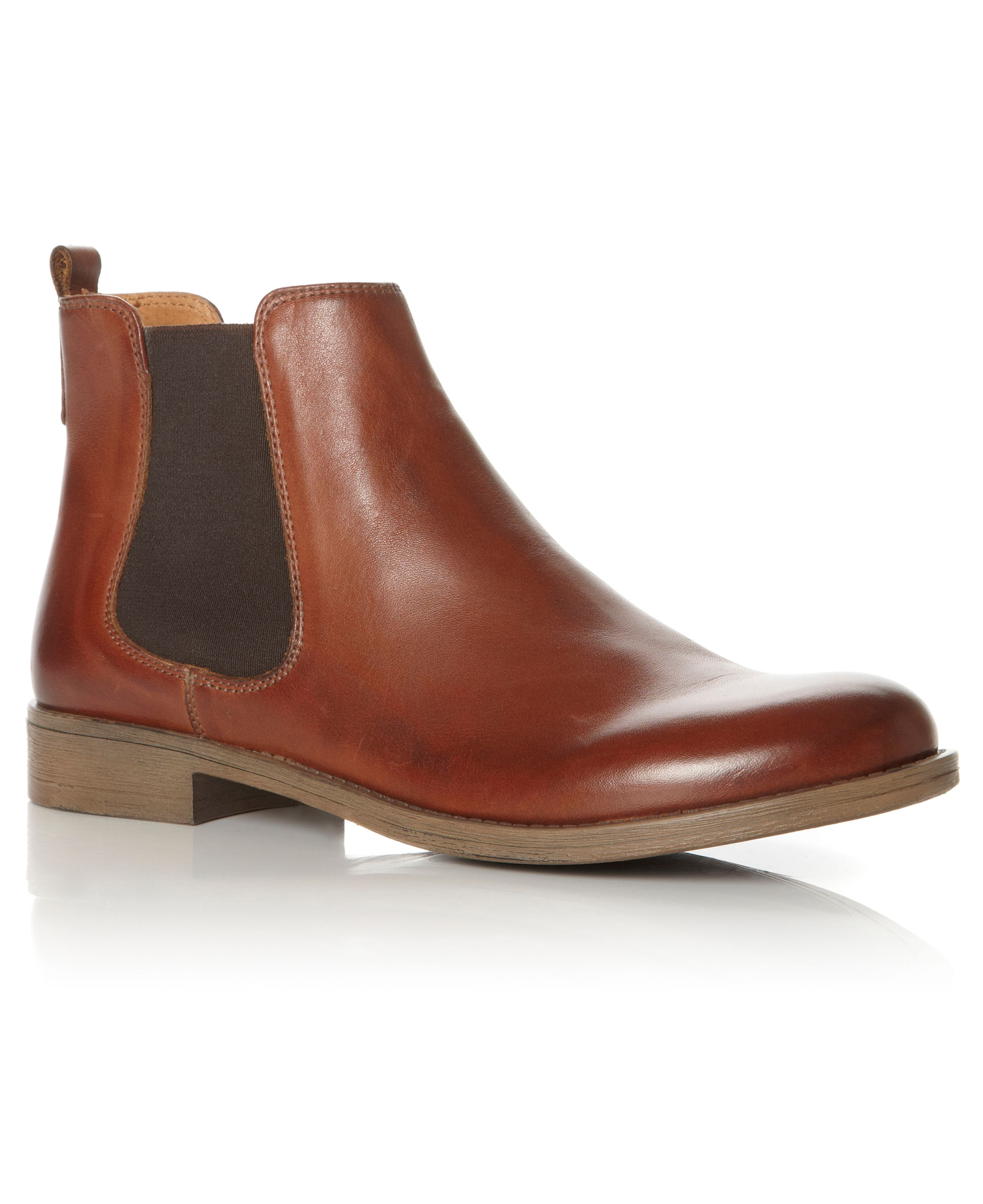 Shoes Dune Paddys Leather Chelsea Boot, Tan