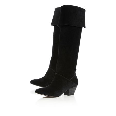Bertie Sandie Square Toe Over The Knee Boots