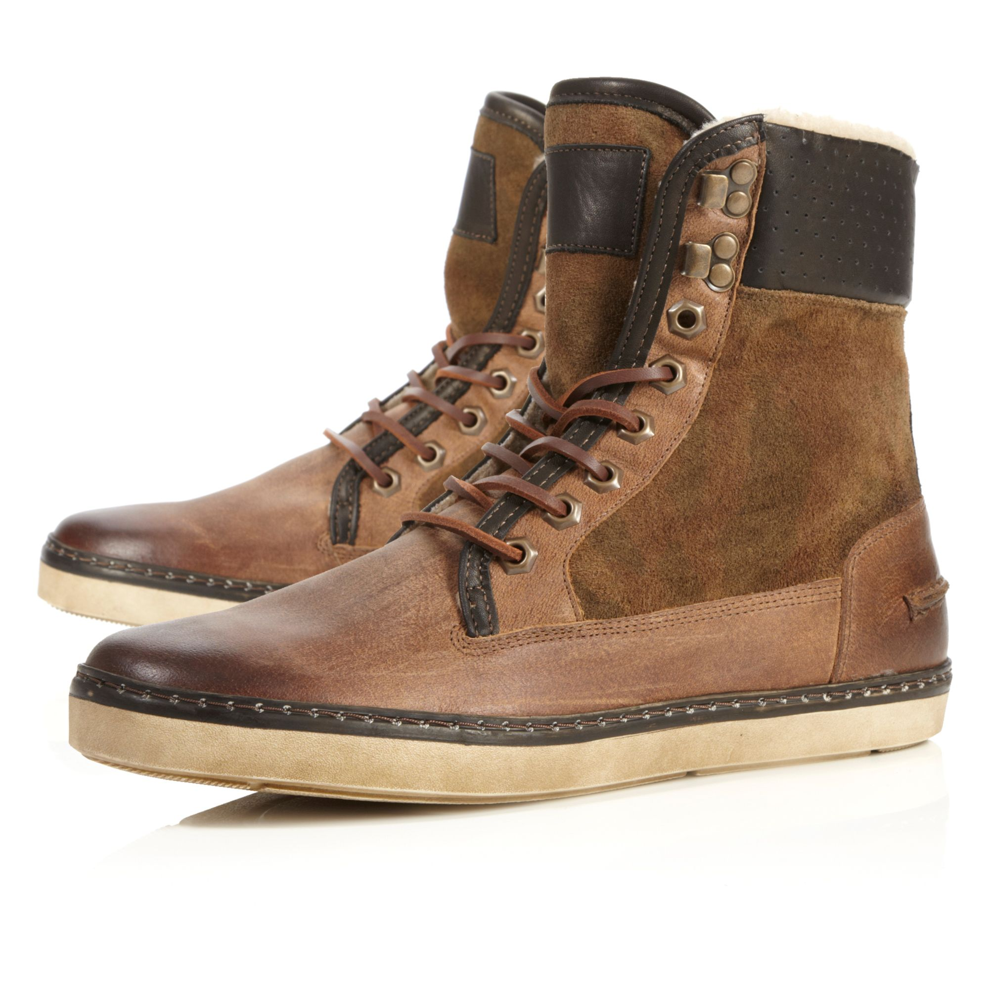 Crypton camouflage lace up boot