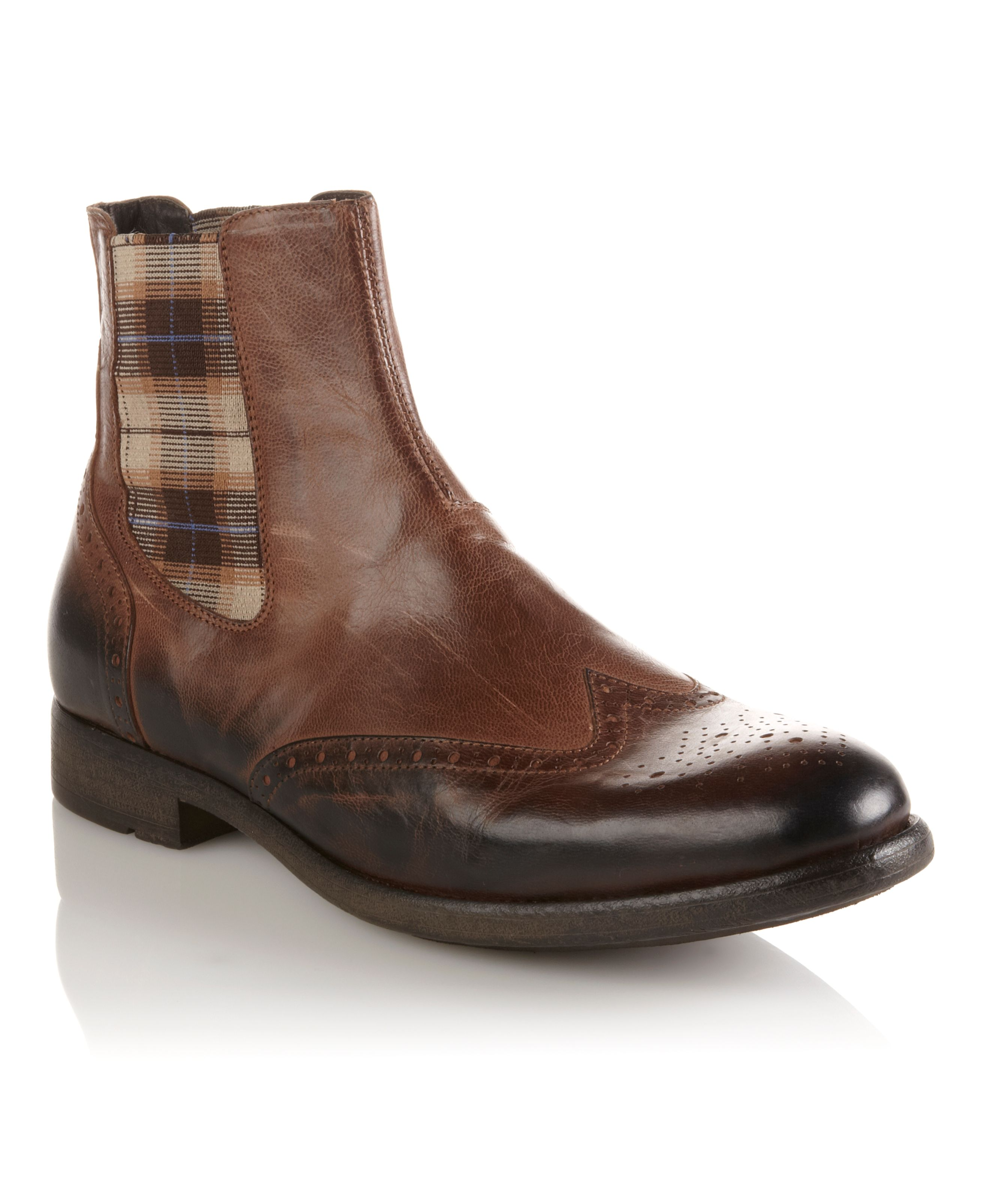 Bertie Crowd round toe zip boots