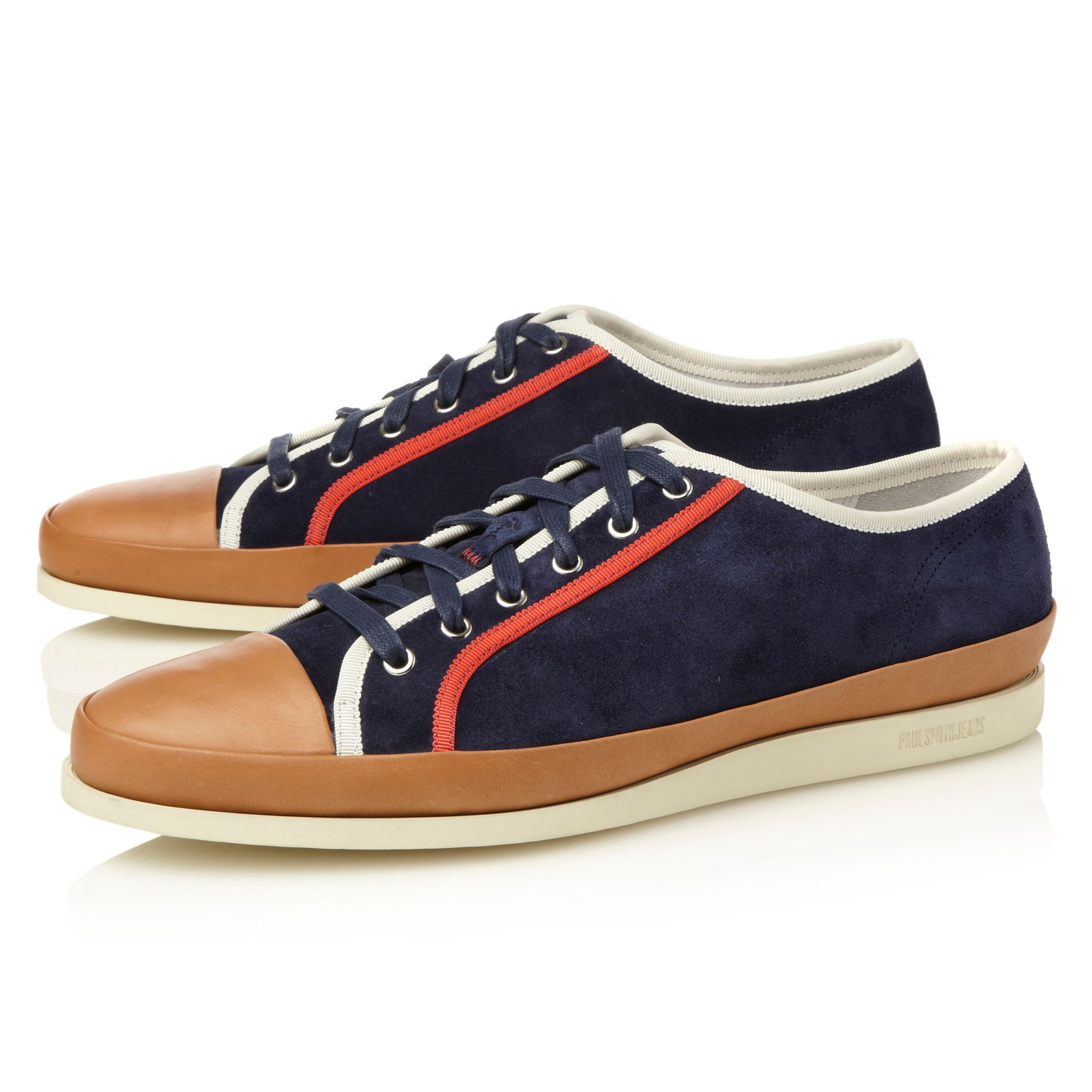 Shore leather toe cap sneakers