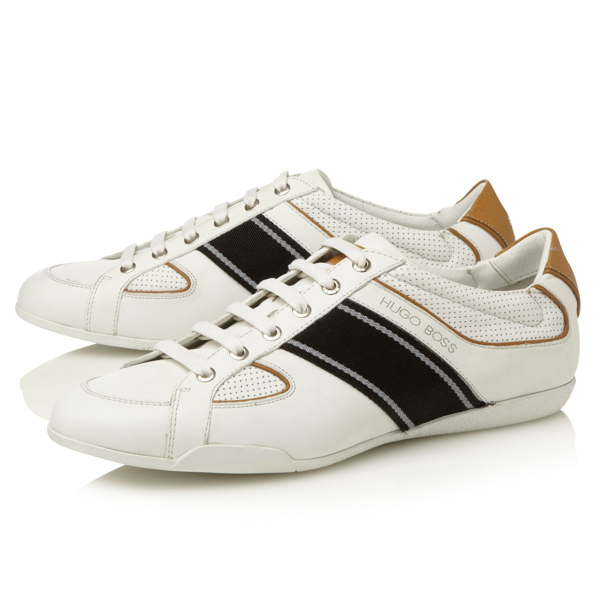 Birto side stripe piping trainers