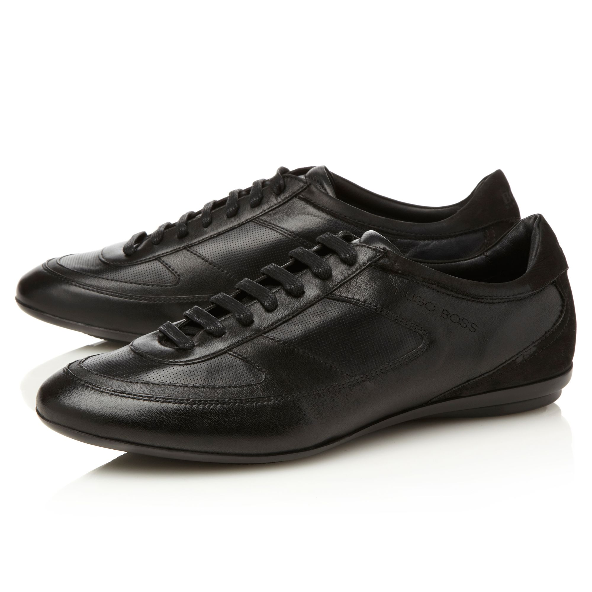 Spadio slim line leather trainers