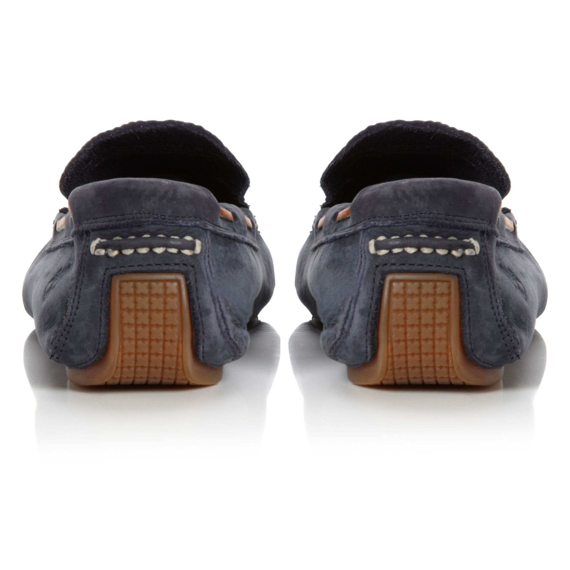 6649R contrast stitch driver shoes