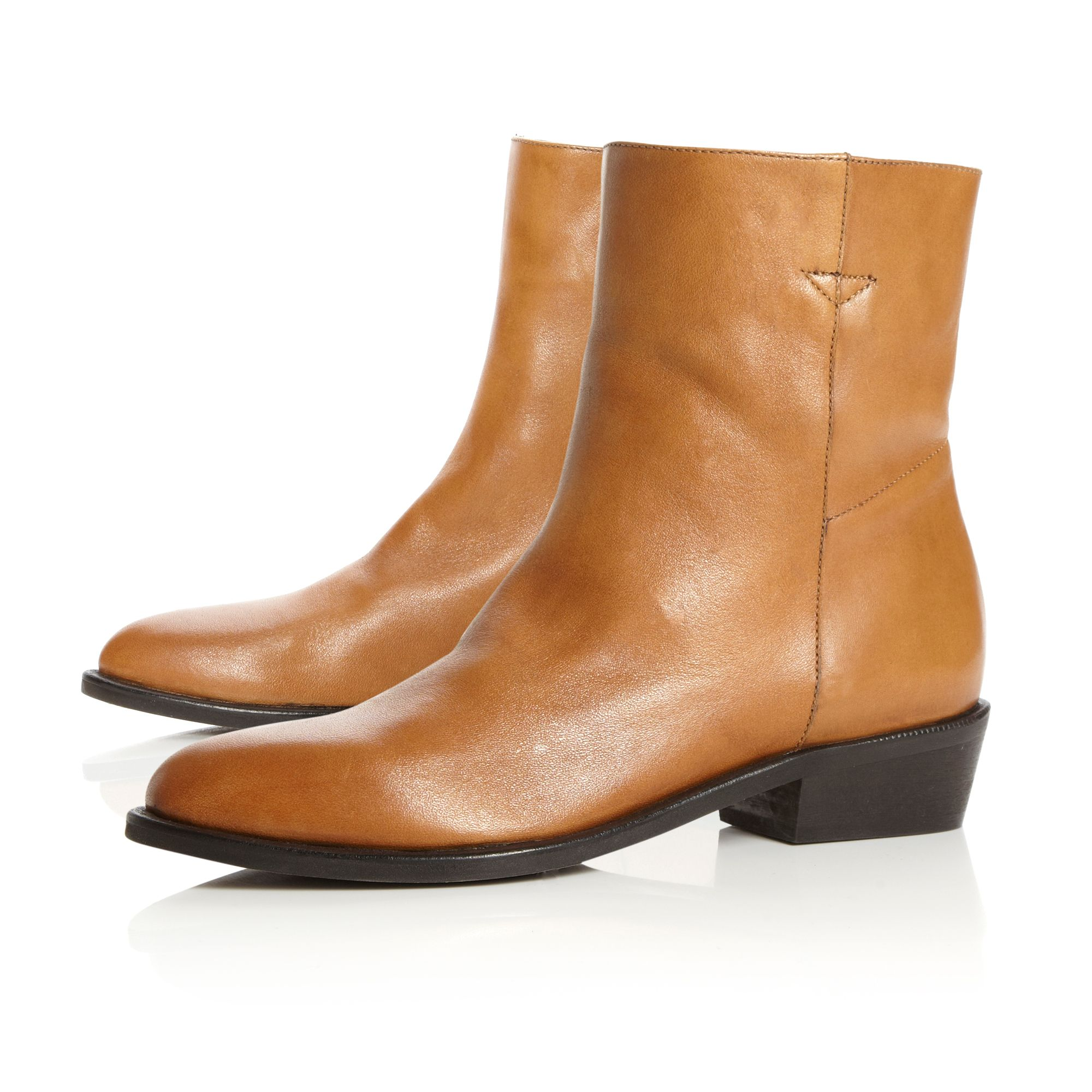 Oman Western Stacked Block Boots
