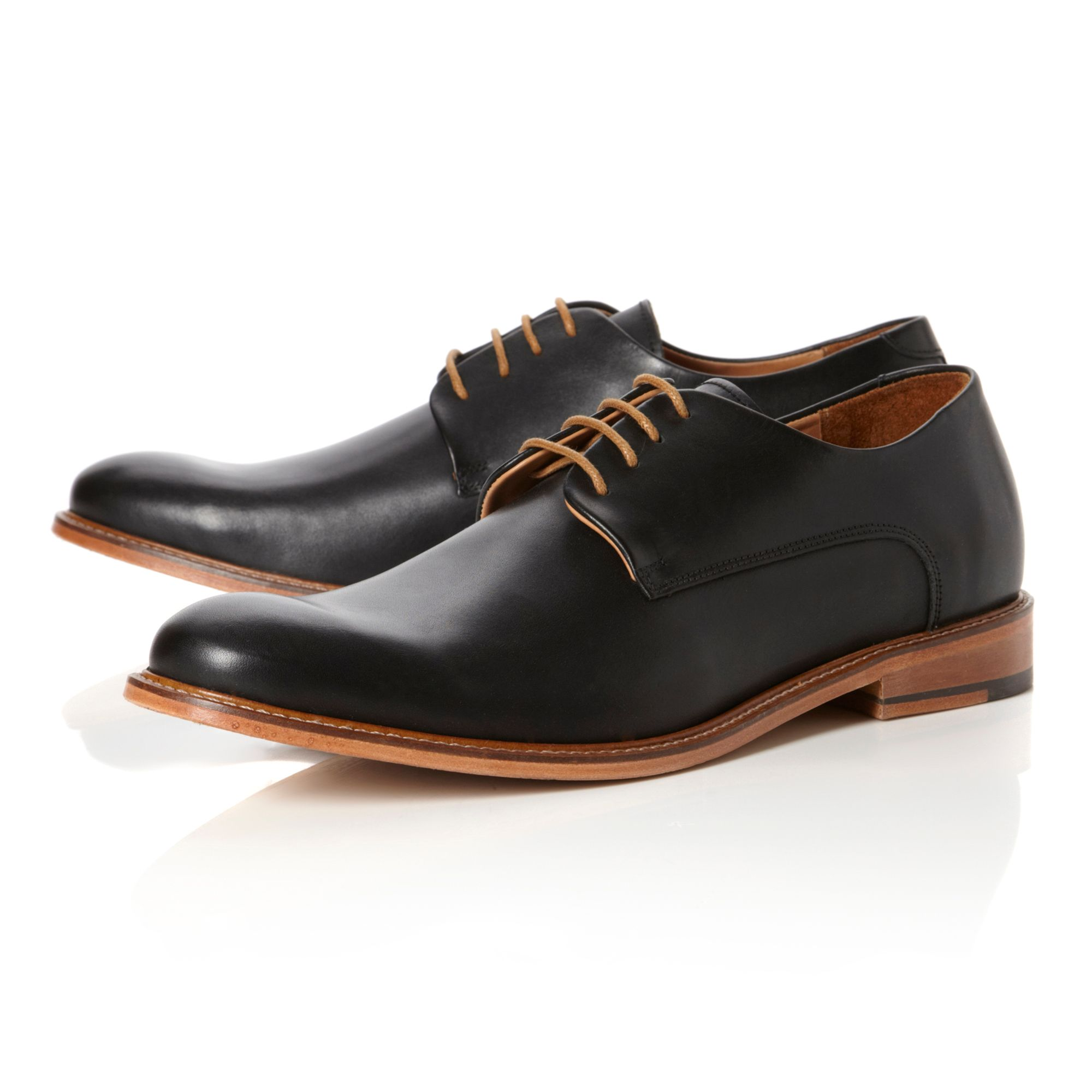 Irron classic leather lace up derby shoes
