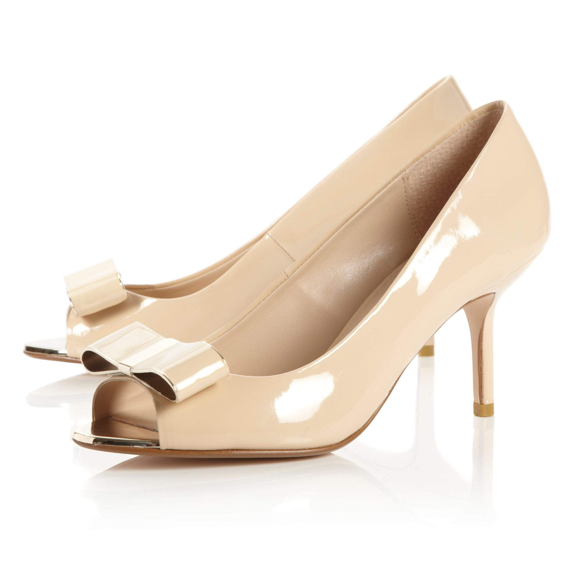 Demure Bow Peep Toe Court Shoes