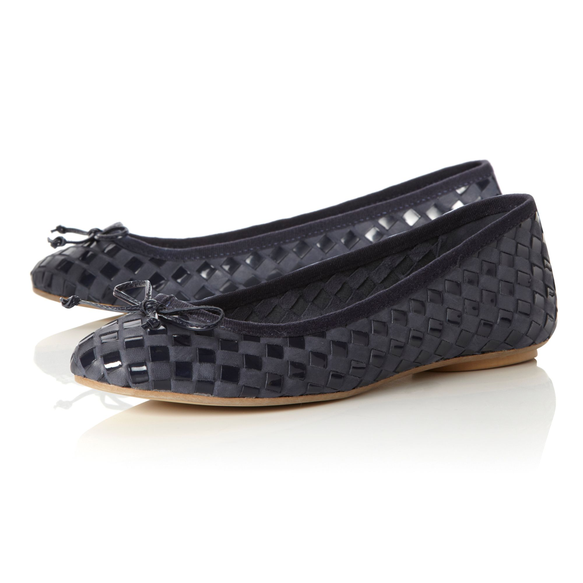 Medoras Woven Leather Ballerina Shoes