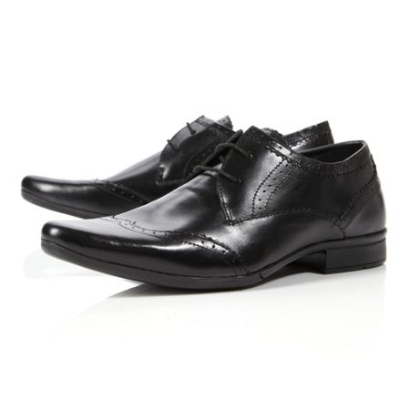 Howick Arden brogue almond toe formal shoes