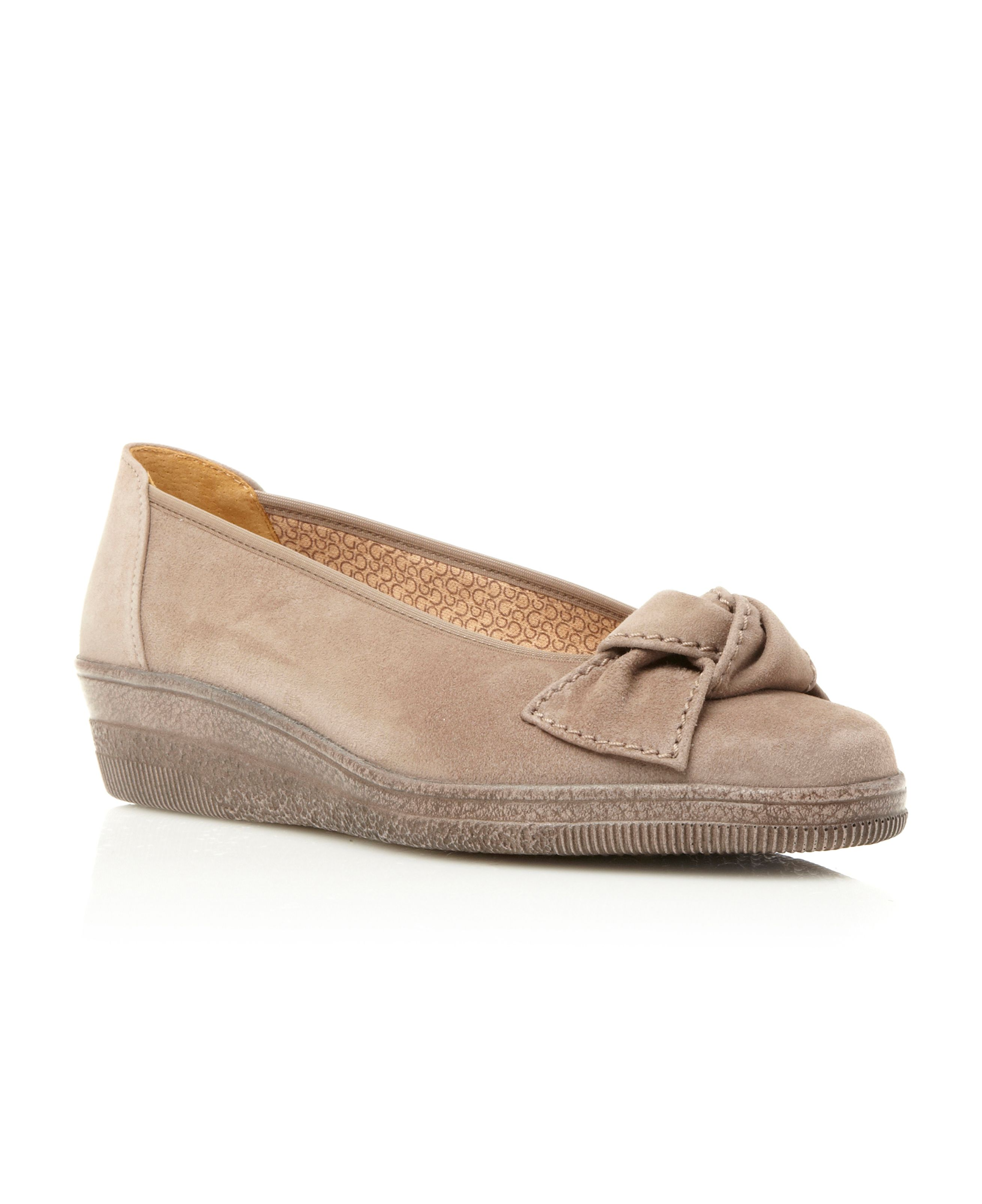 Lesley low wedge ballerinas