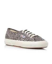 2750 Spotted leopard print lace up shoes