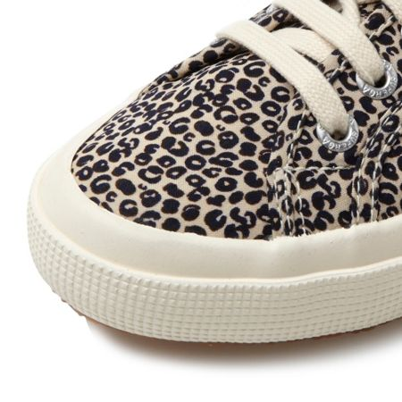 Superga 2750 Spotted leopard print lace up shoes