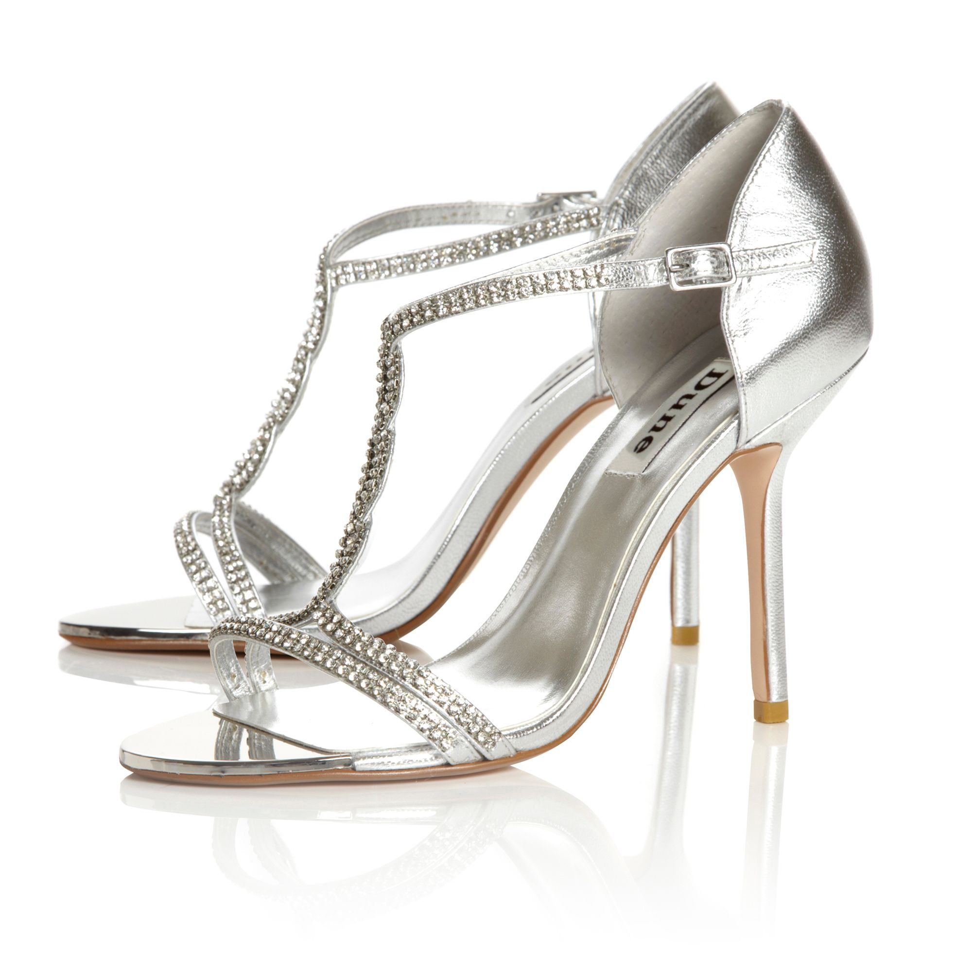 Honour Diamante T Bar Sandals