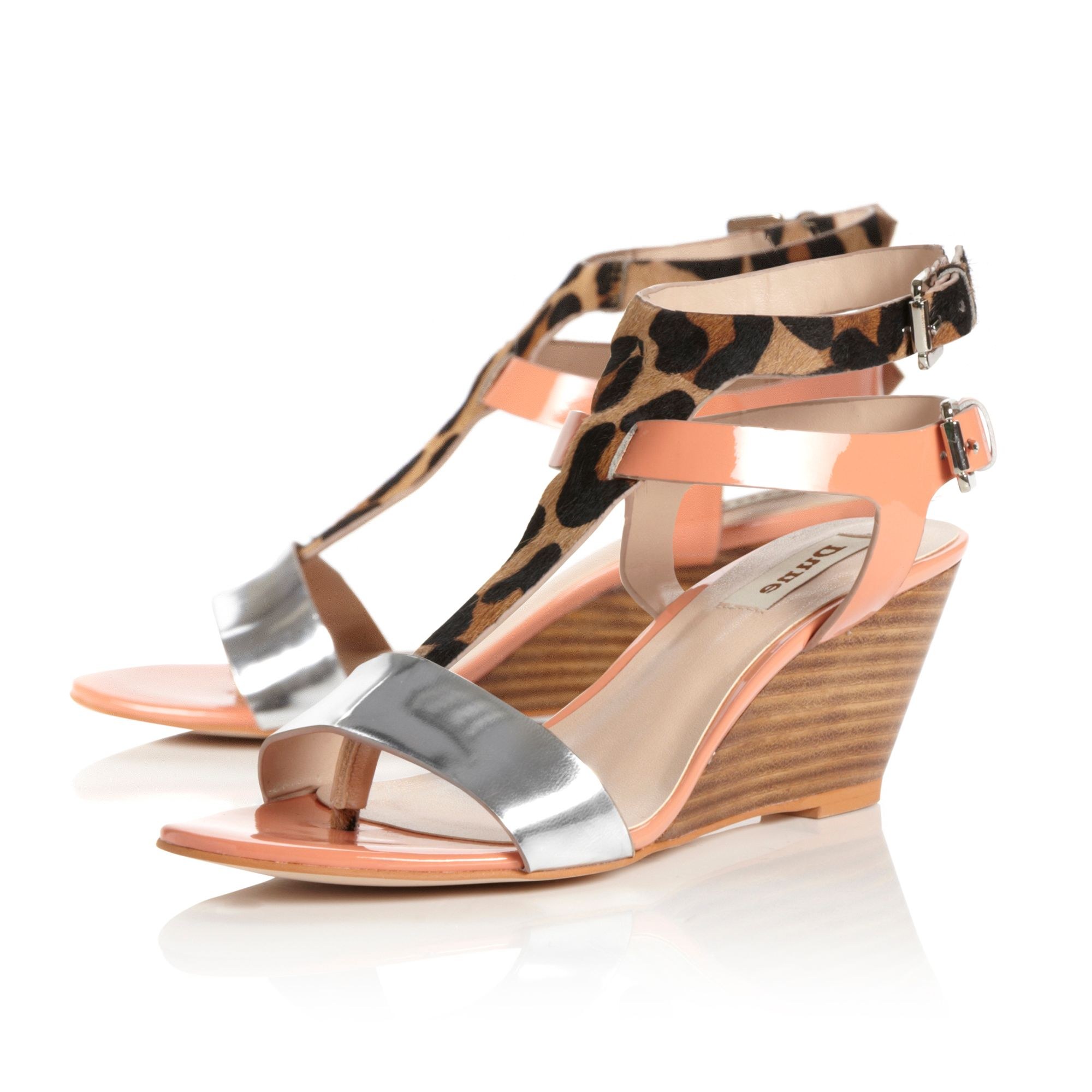 Gwinny double strap wedge shoes