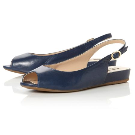 Dune Julius peep toe slingback sandals
