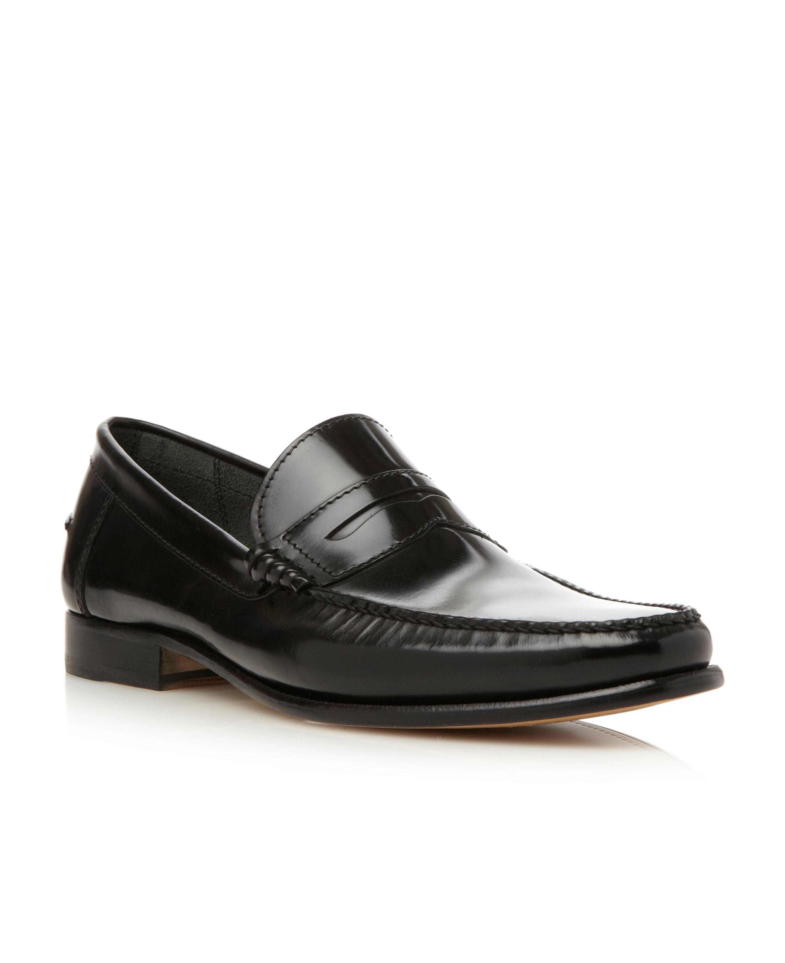 Newington hi shine penny loafers