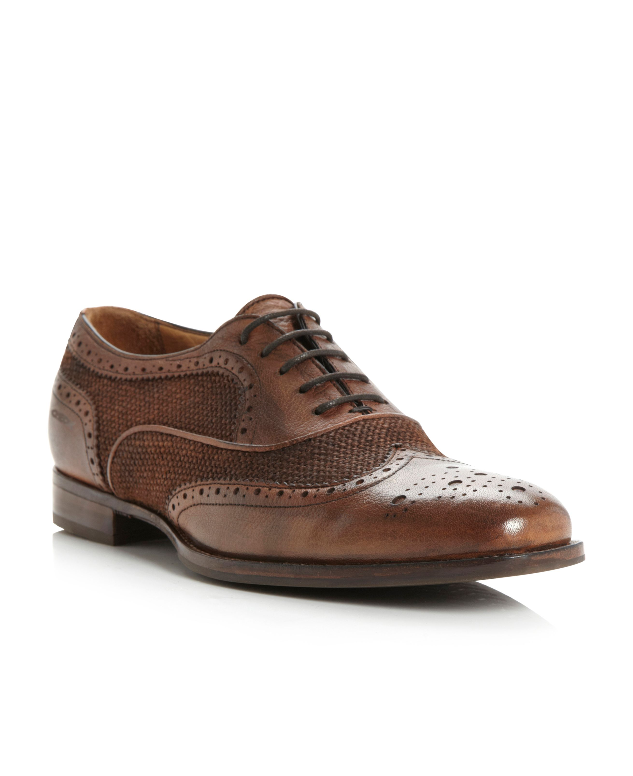 Connor U32P2C contrast wingtip brogue