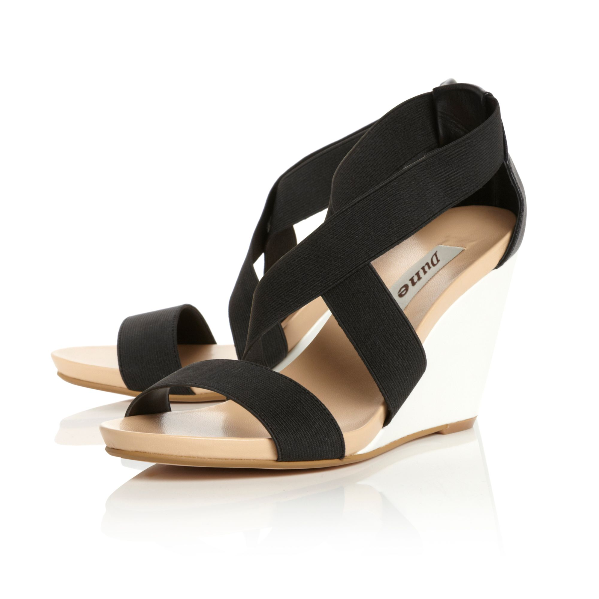 Glide Elasticated Footbed Wedge Sandals
