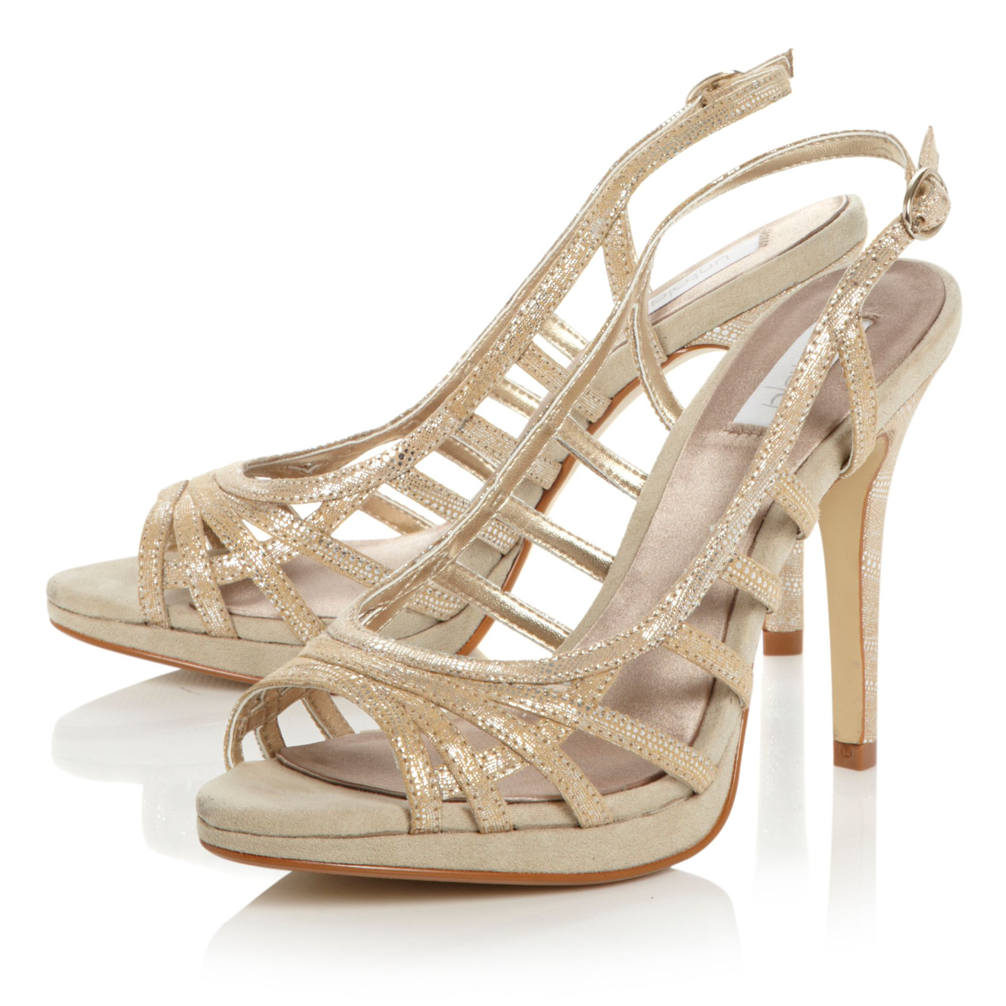 Heron strappy caged sandals