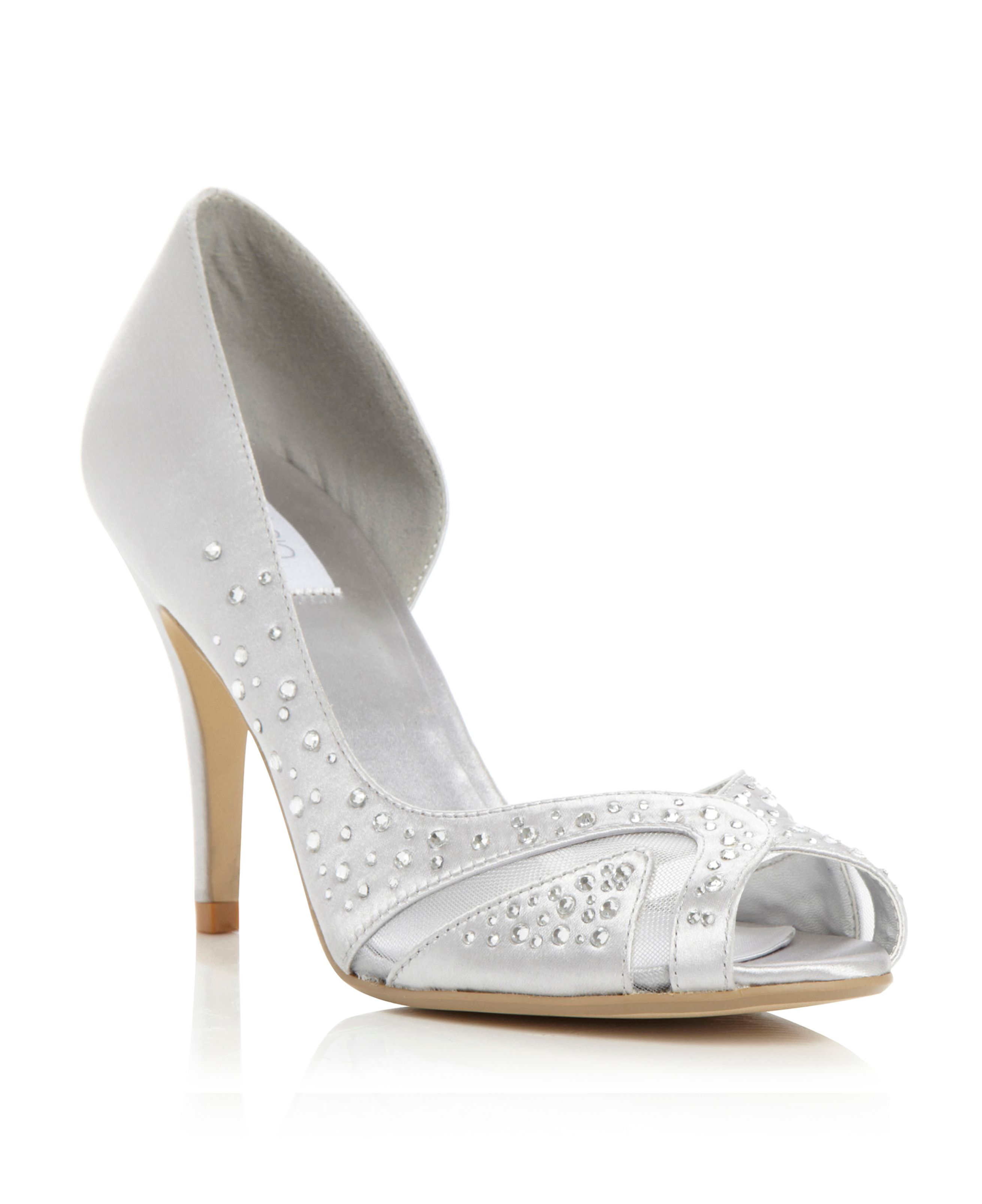 Daisee diamante mesh upper court shoes