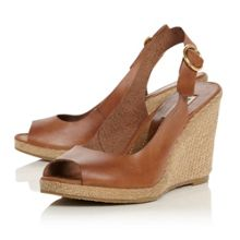 Gleeful peep espadrille wedge sandals