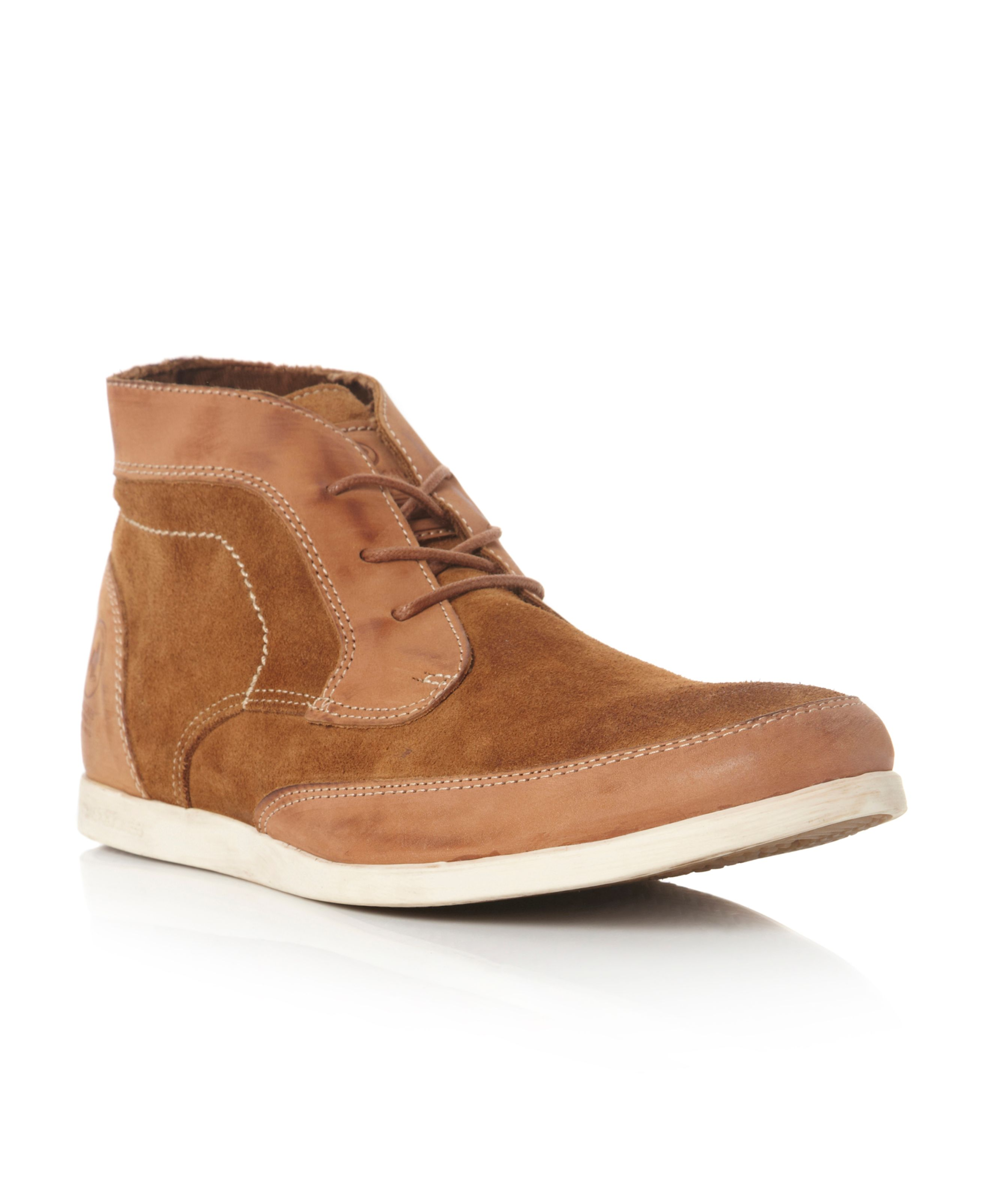 Stuttgart suede & leather boots