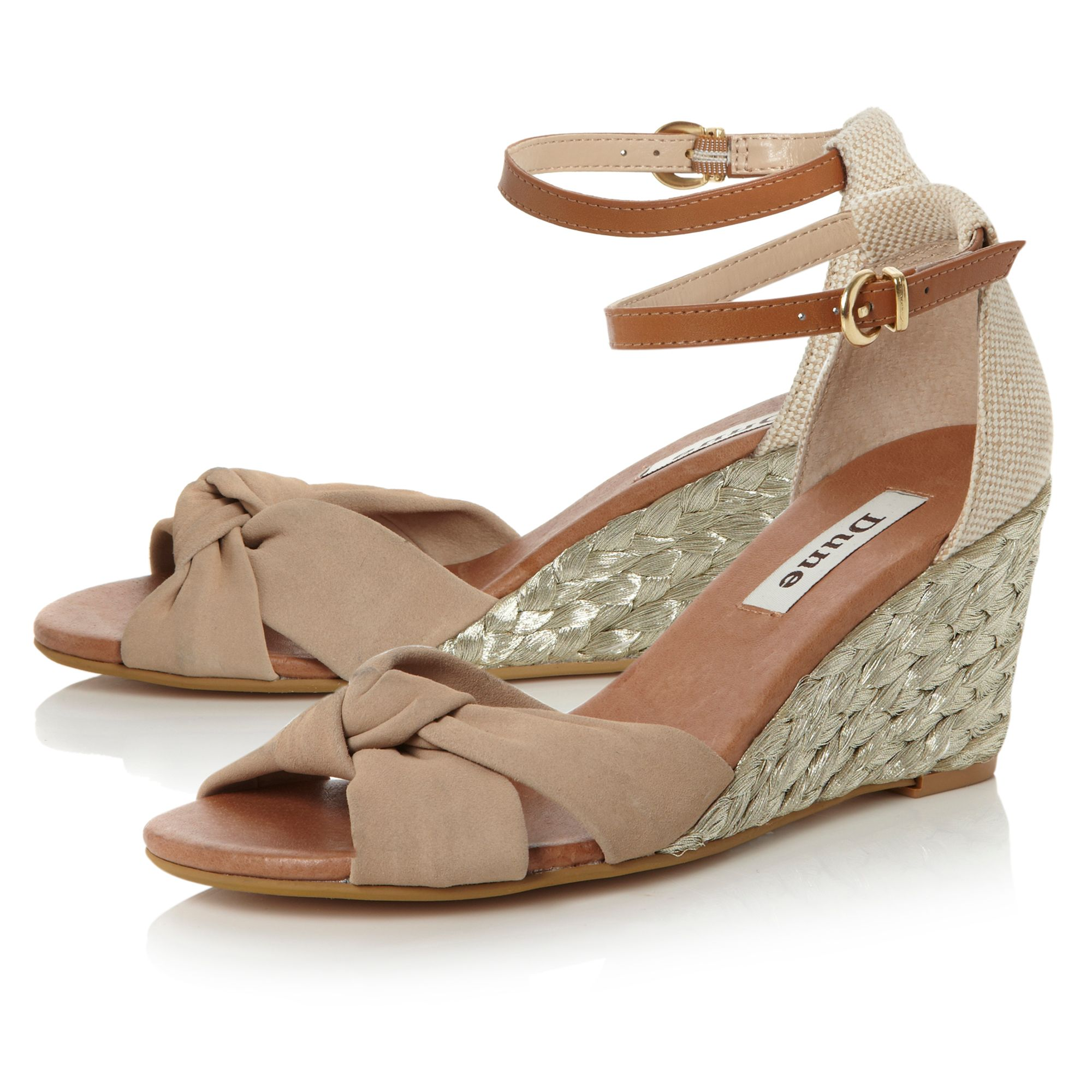 Genteel rope single wedge espadrille shoes