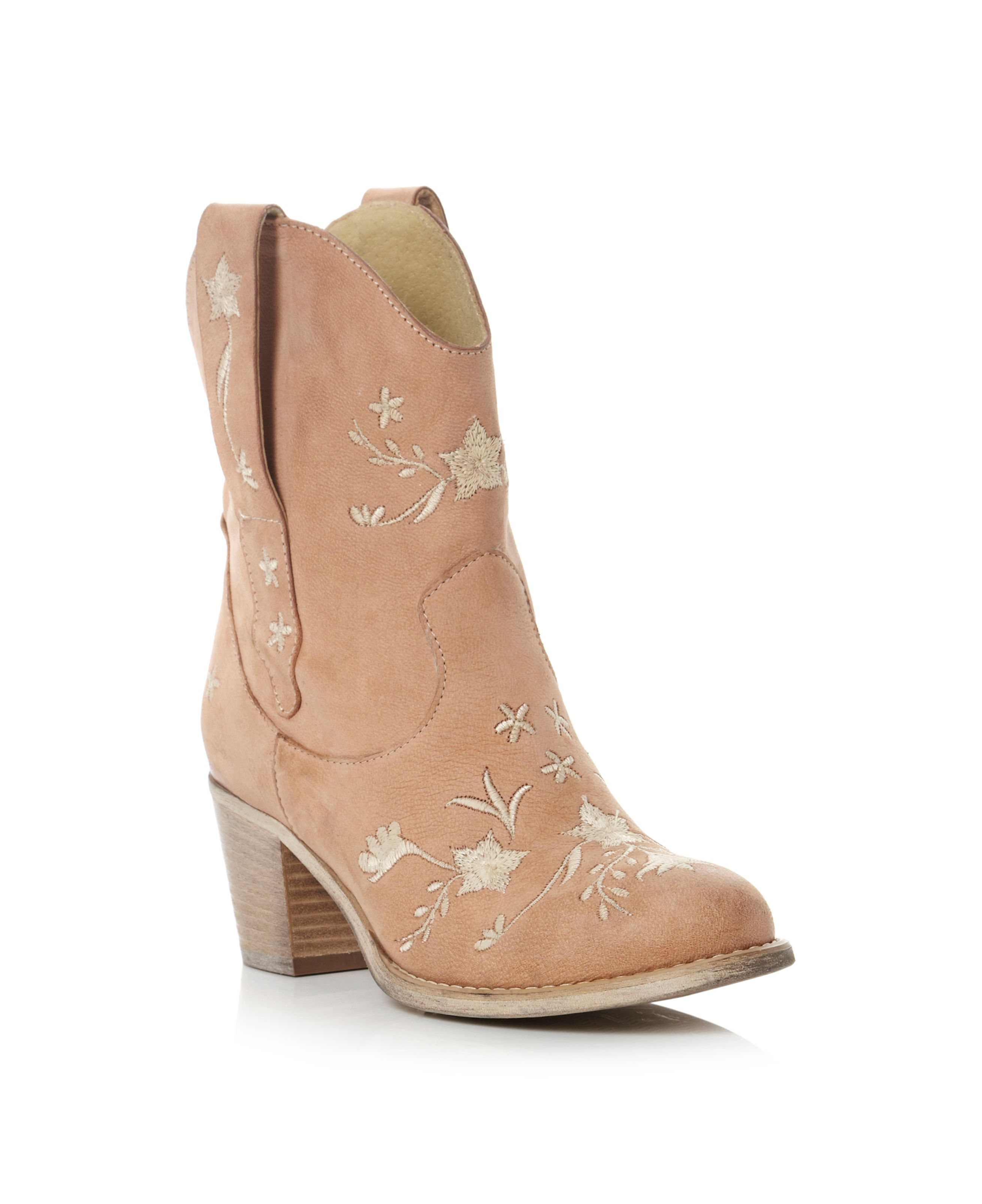 Parrish Embroidery Heeled Boots
