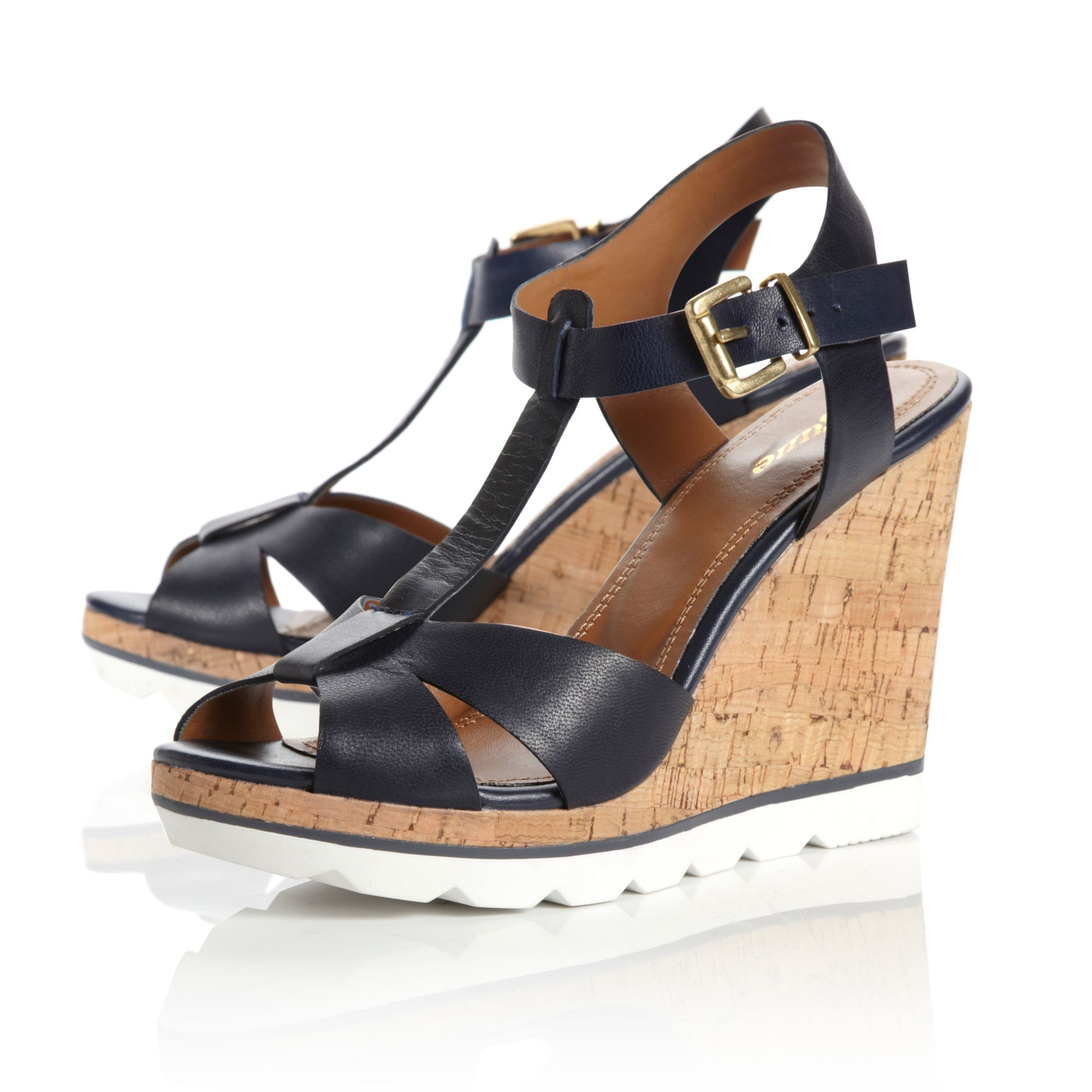 Giraffe eva t-bar wedge shoes