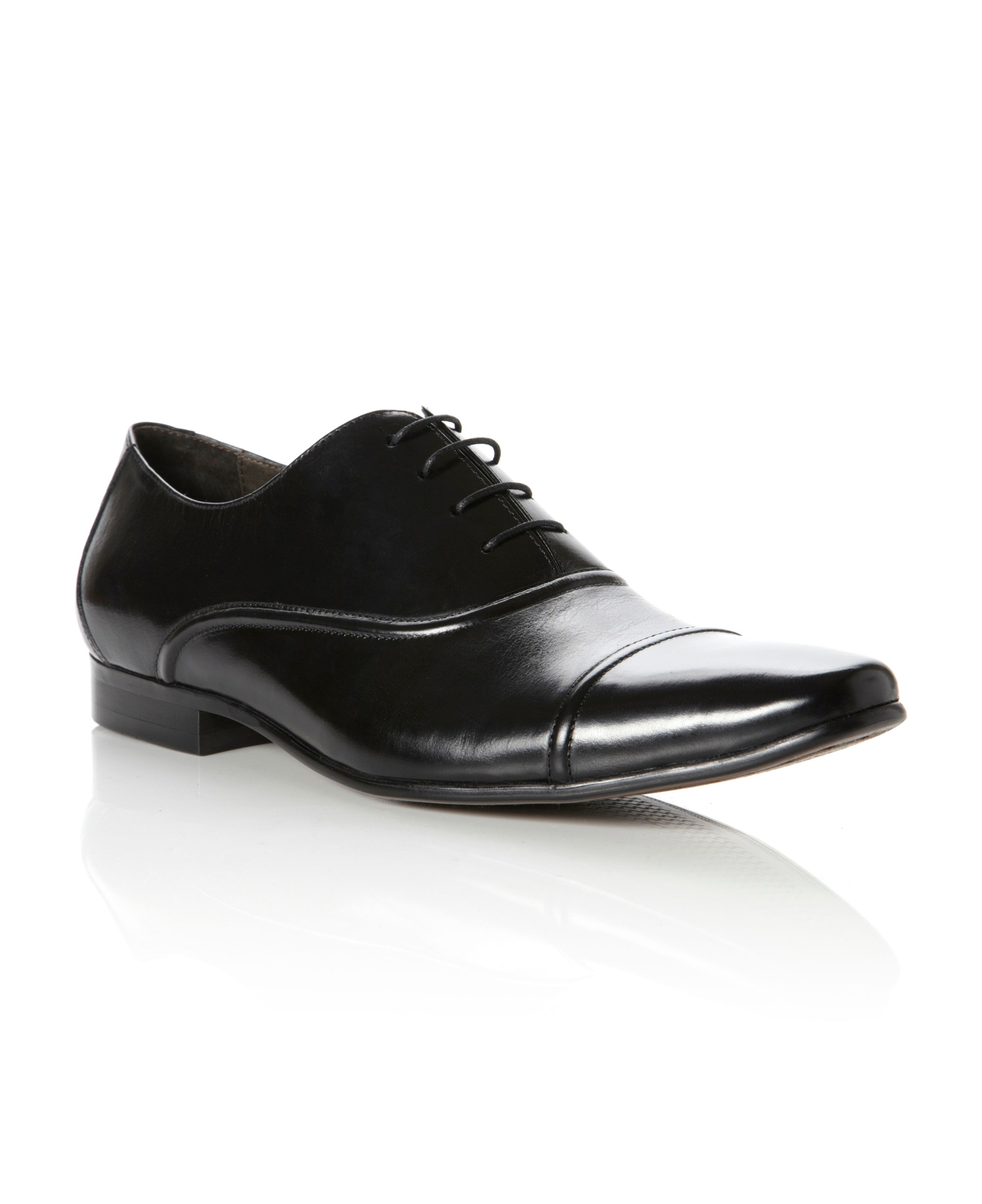 Academy toe cap seam detail oxford shoes