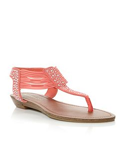 Tanduum Diamante Thong Flat Sandals