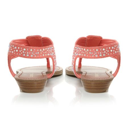 Madden Girl Tanduum Diamante Thong Flat Sandals