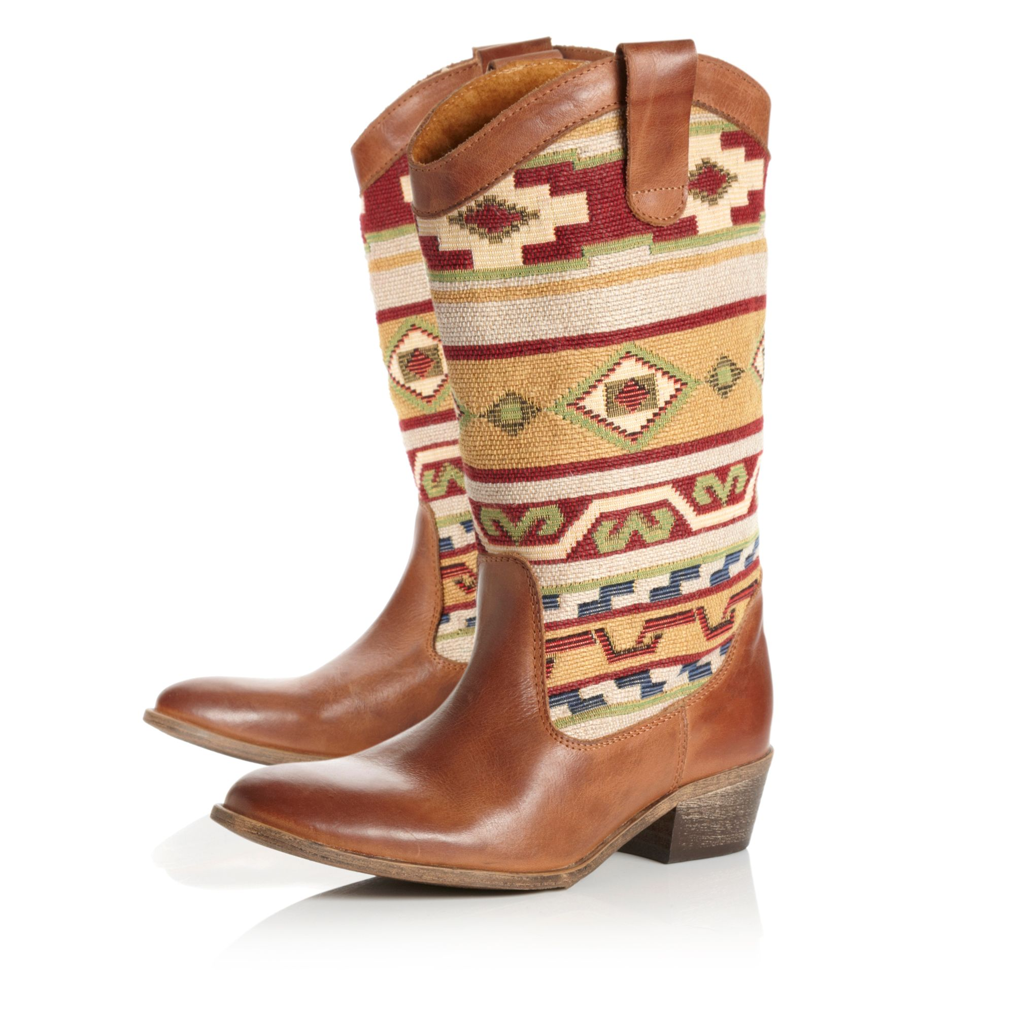 Ronata Fabric Calf Boots
