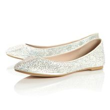 Marthas Diamante Ballerina Shoes