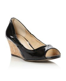 Linea Calais elasticated topline peep toe court shoes
