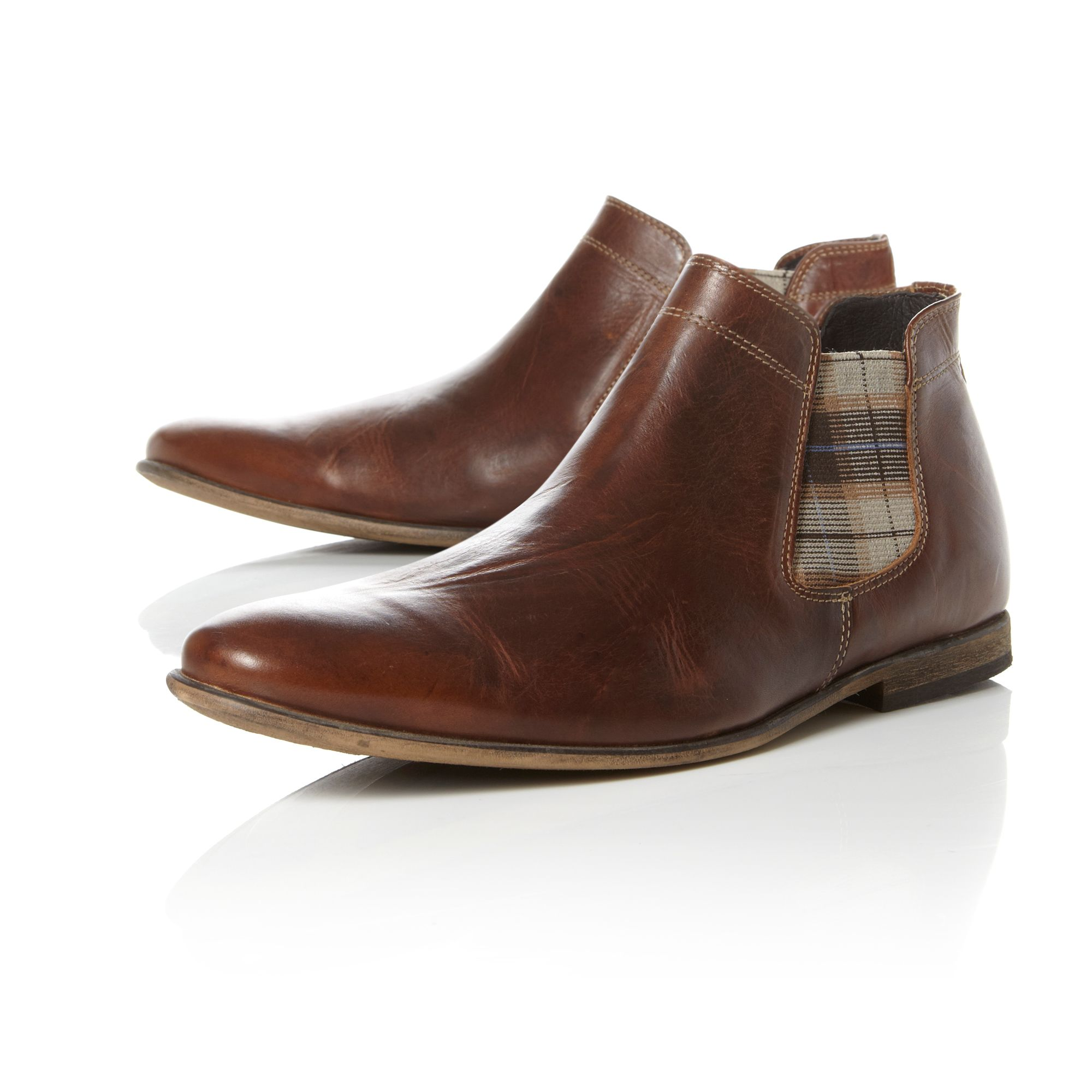 Checked chelsea boot