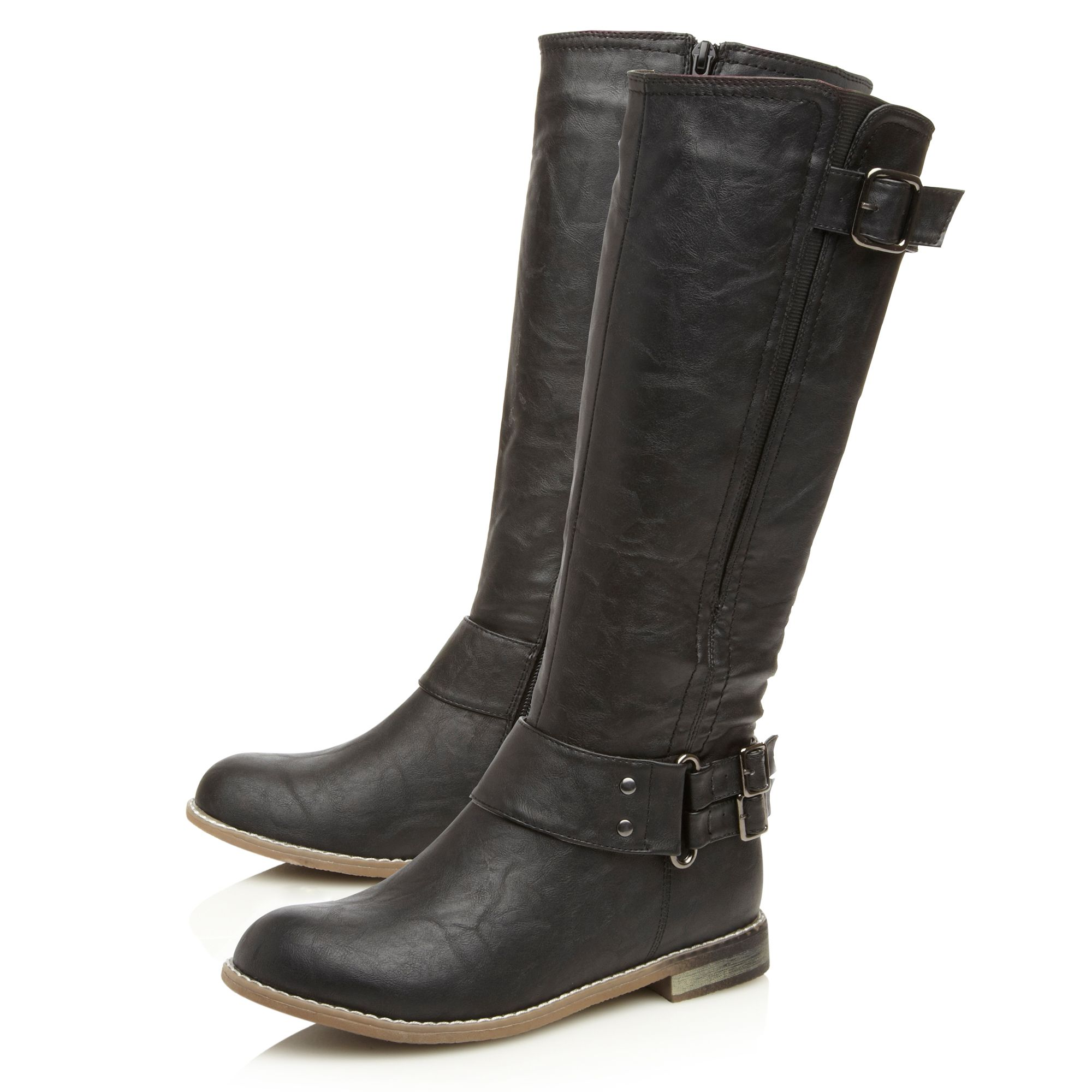 Thandi buckle detail biker boots