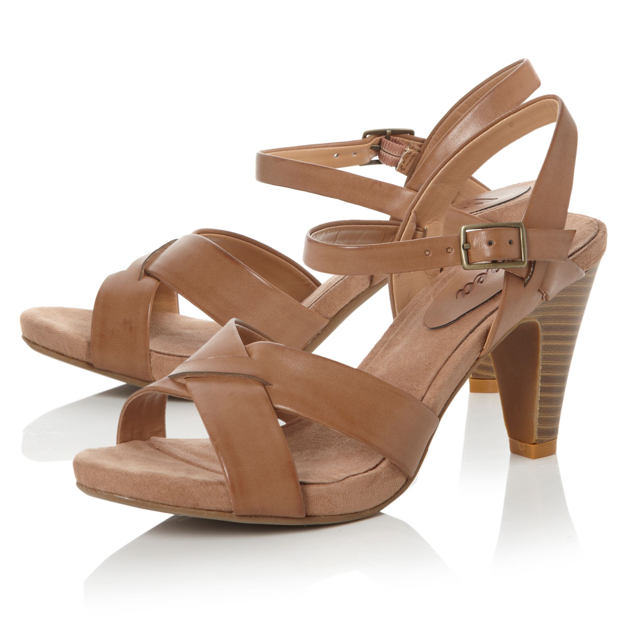 Faro plain cross strap sandals