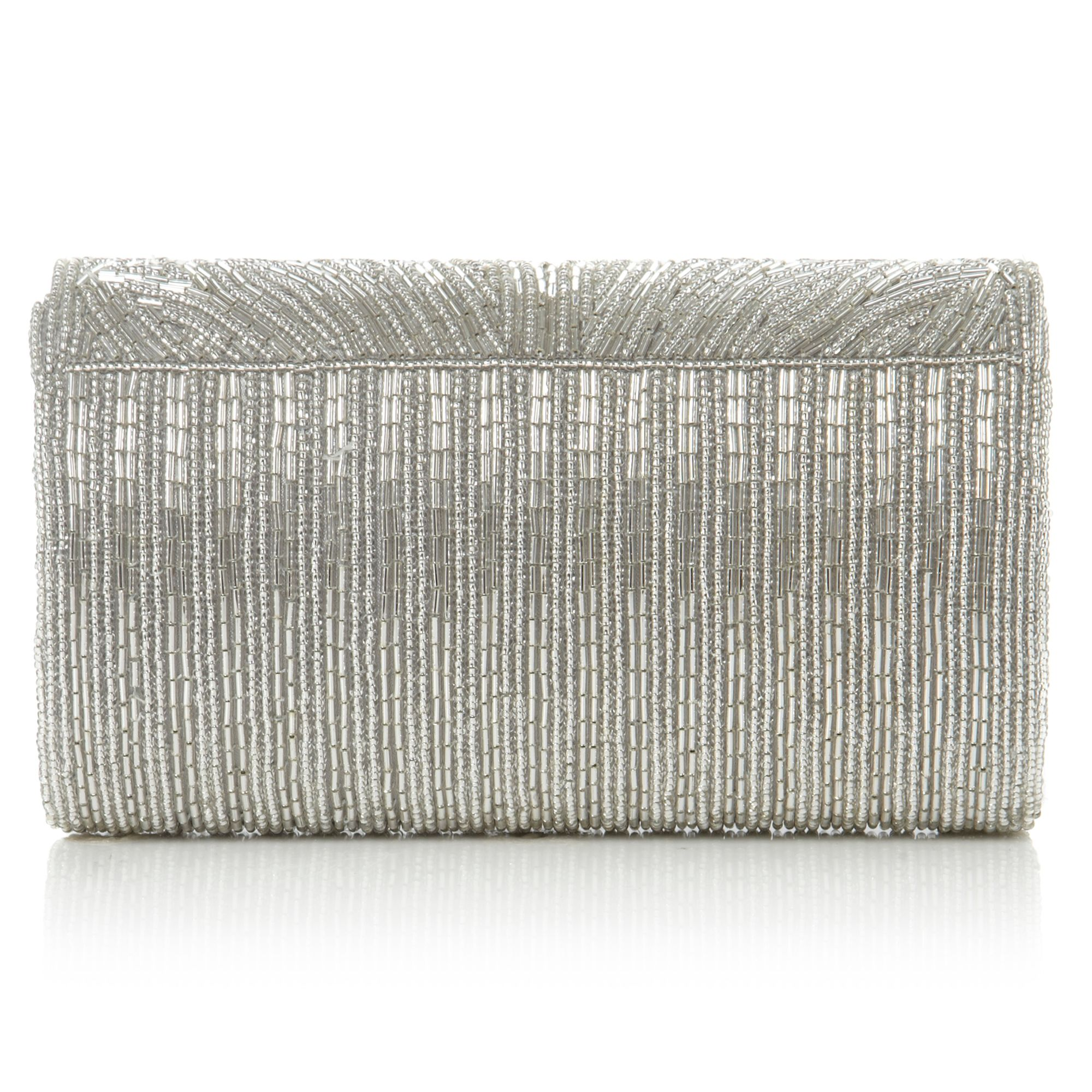 Egical cylinder beaded clutch bag