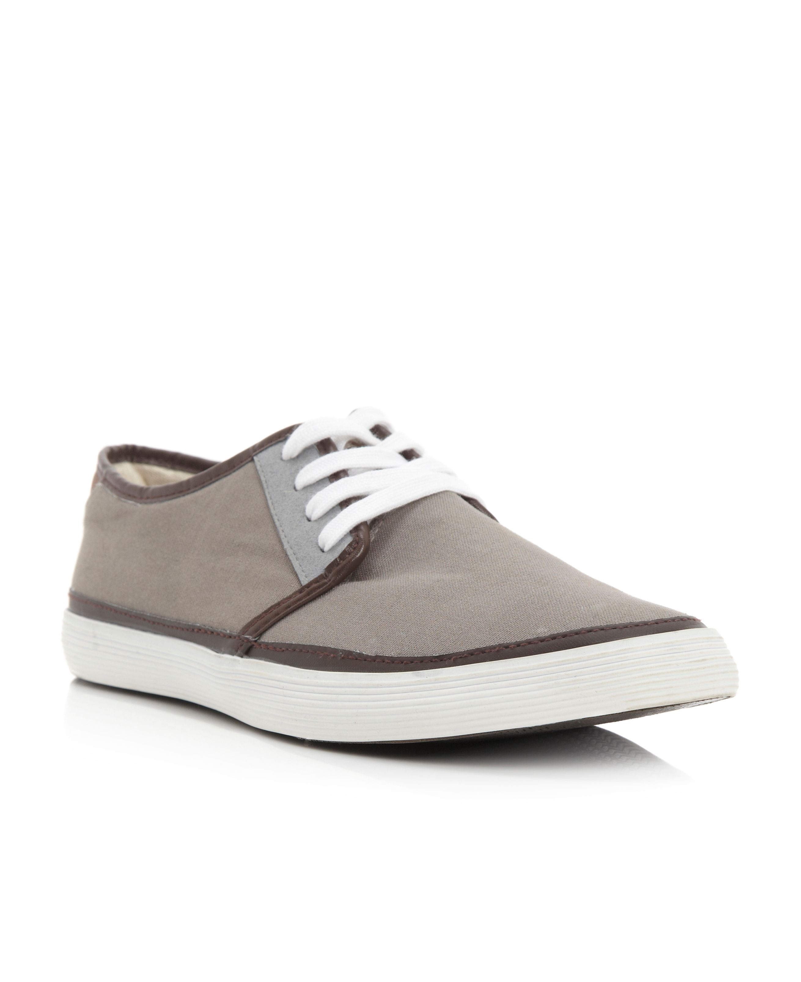 Brunswick canvas lace up shoe