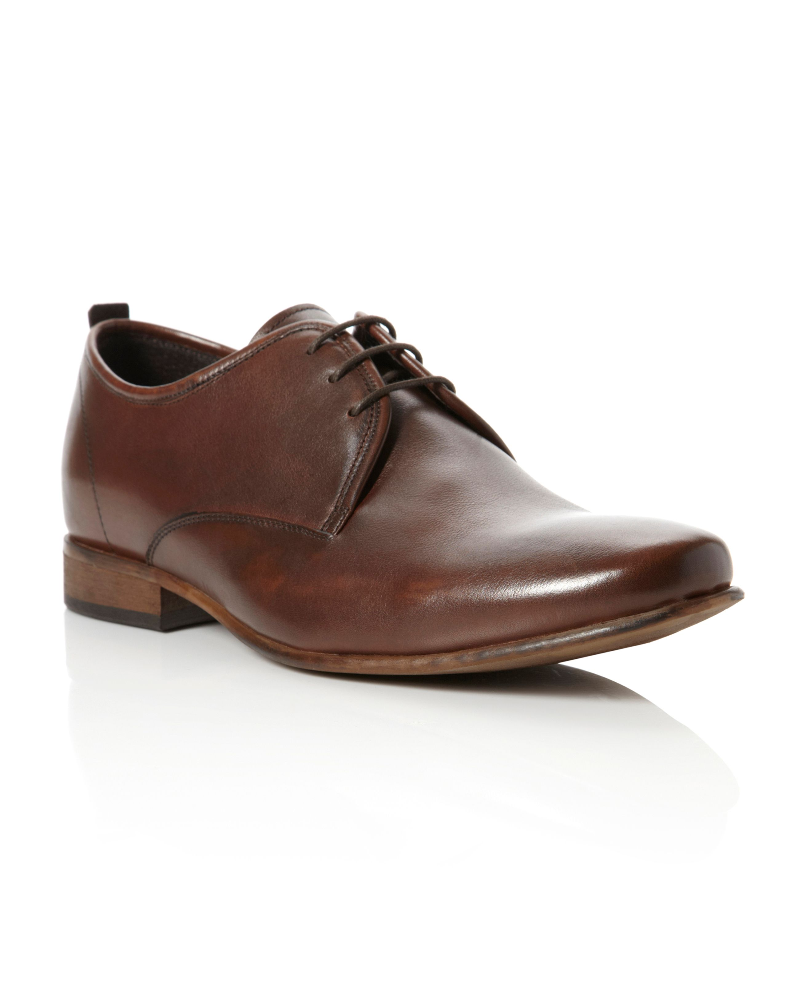 Argentina plain laced round toe shoes