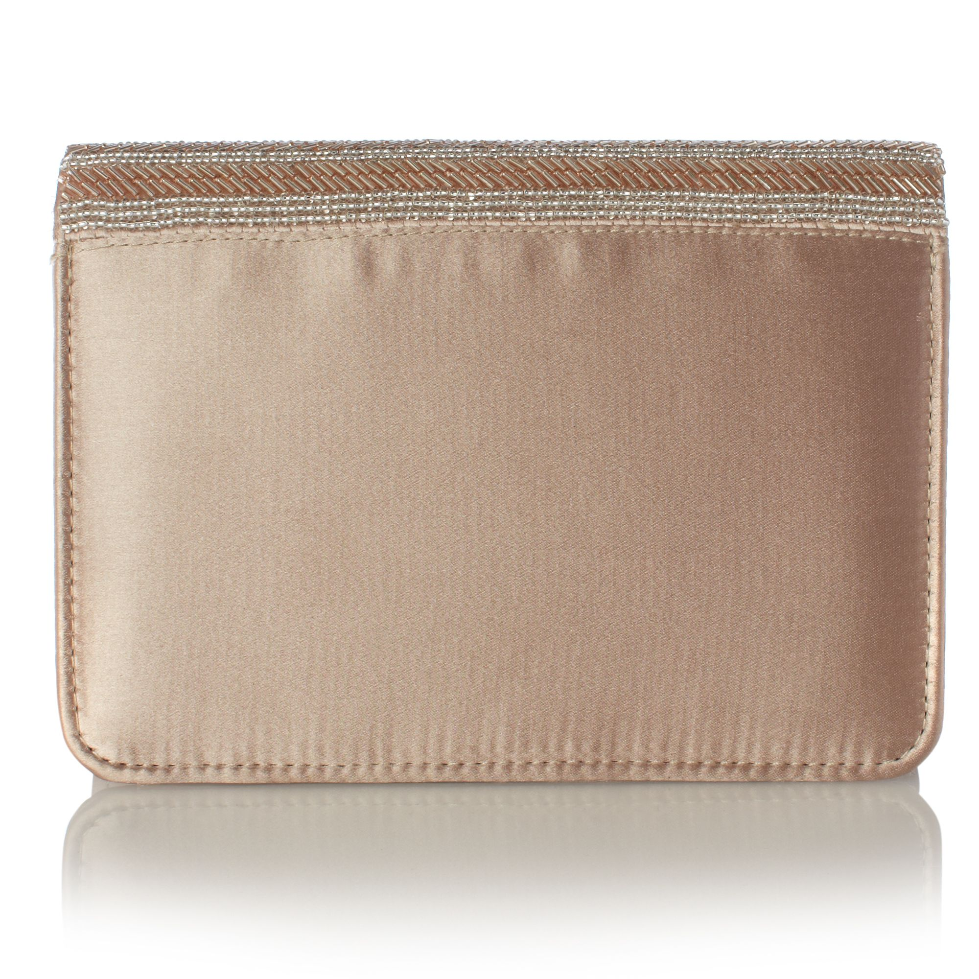 B Dusky U Bugle Bead Clutch Bag